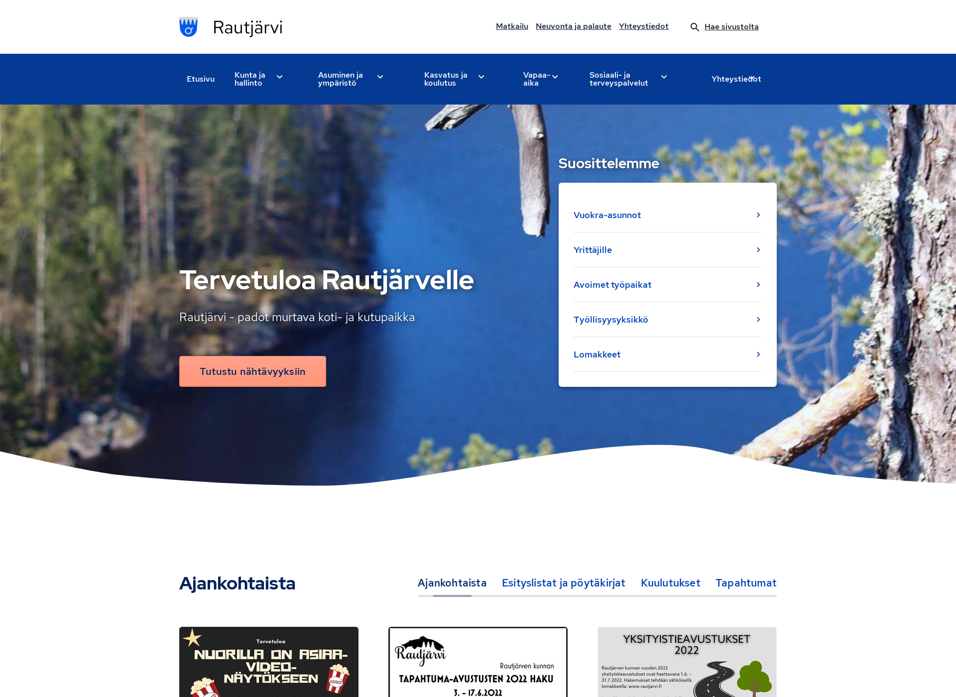 Screenshot for rautjarvi.fi