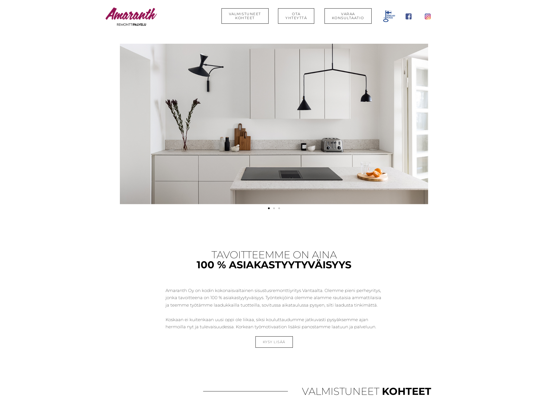 Screenshot for remonttipalveluamaranth.fi
