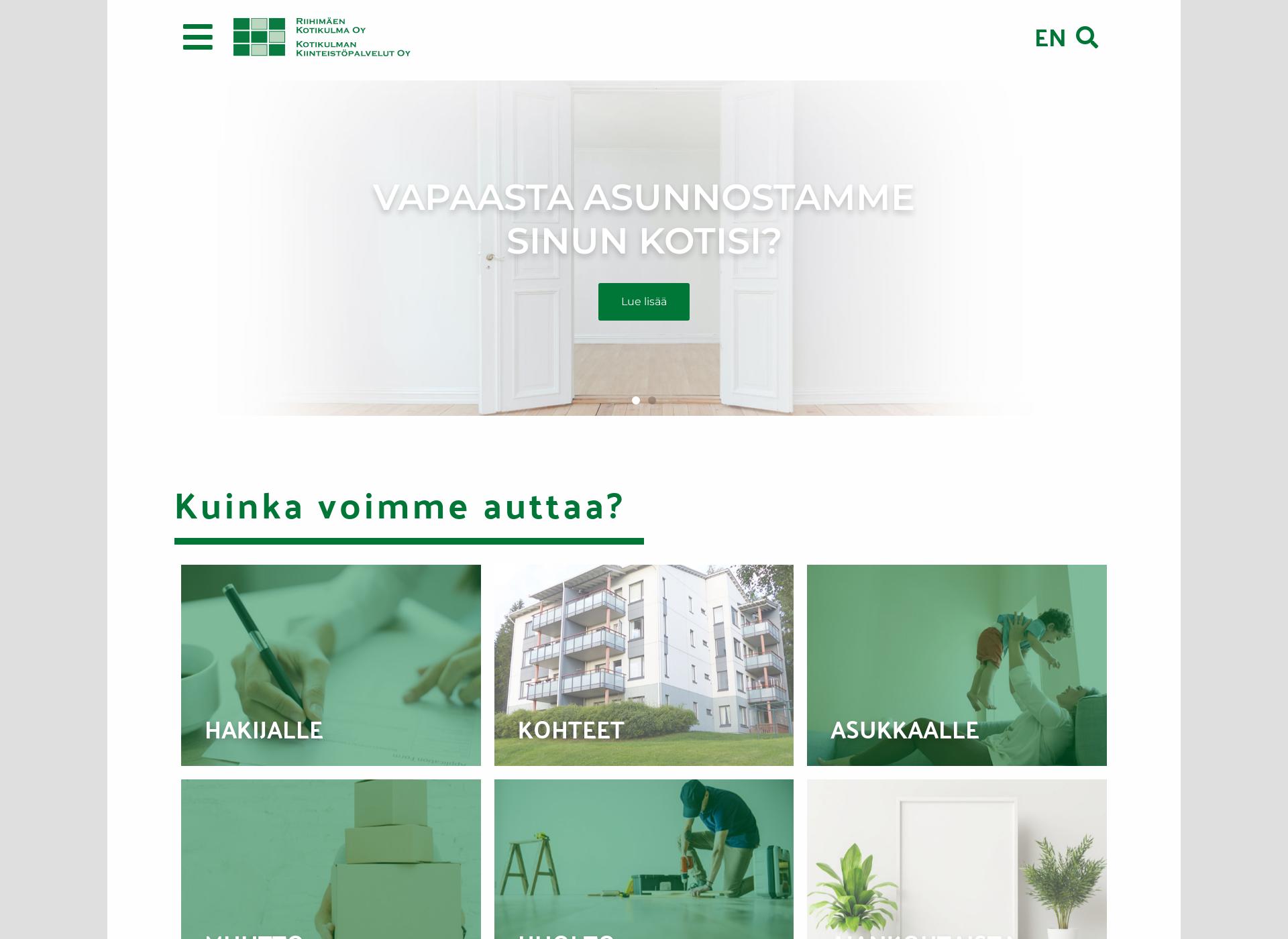 Screenshot for riihimaenkotikulma.fi