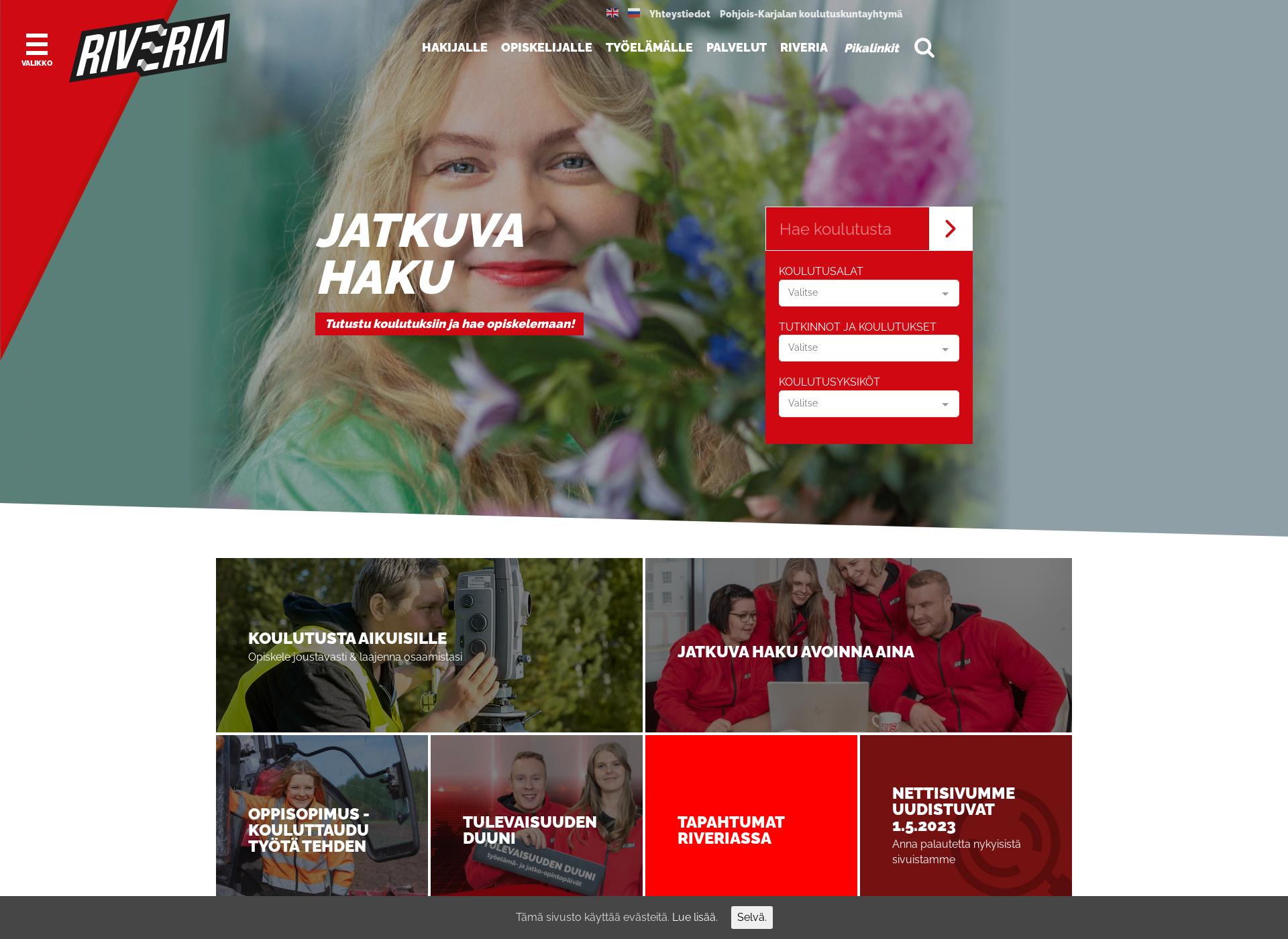 Screenshot for riveria.fi