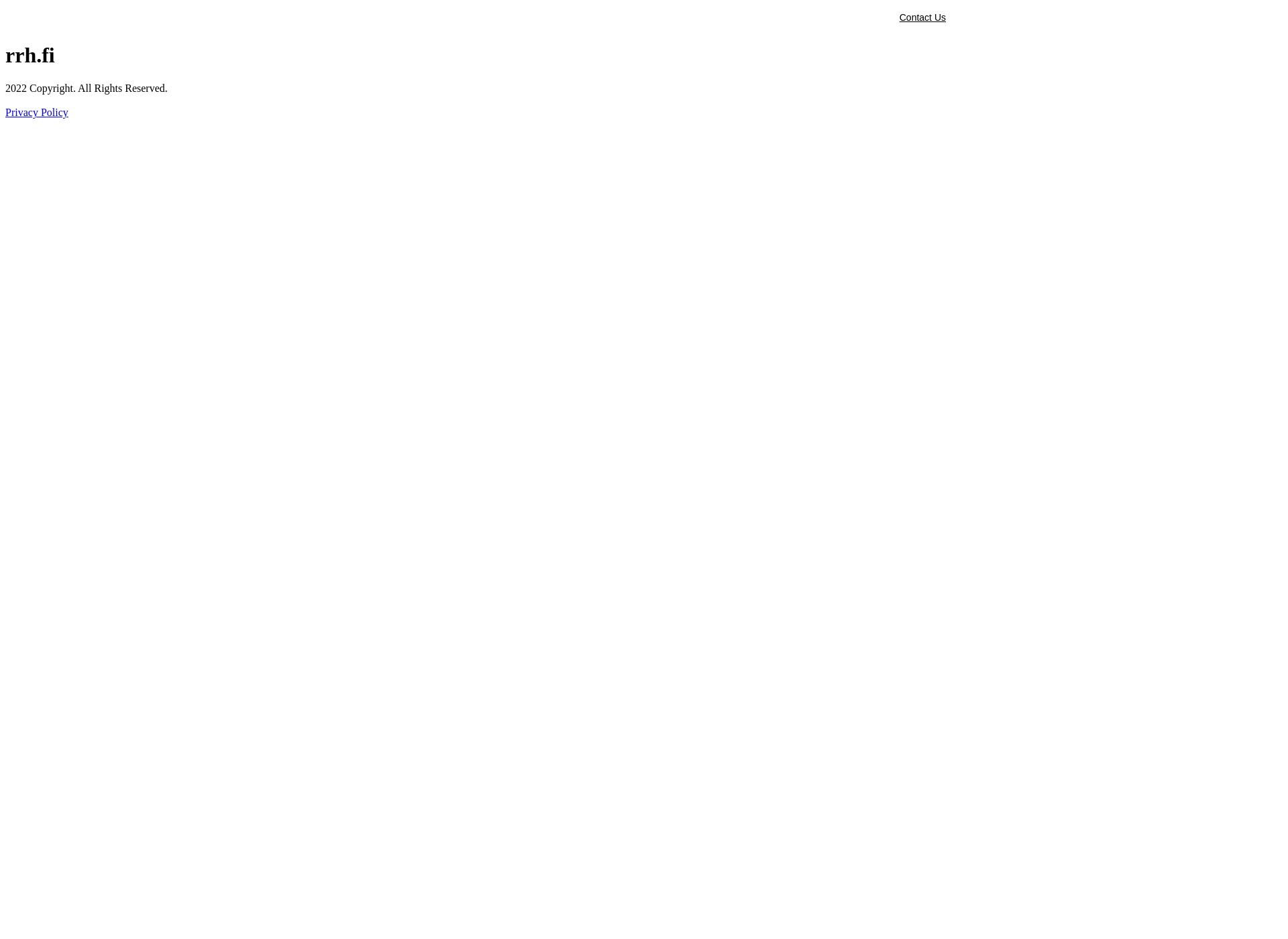 Screenshot for rrh.fi