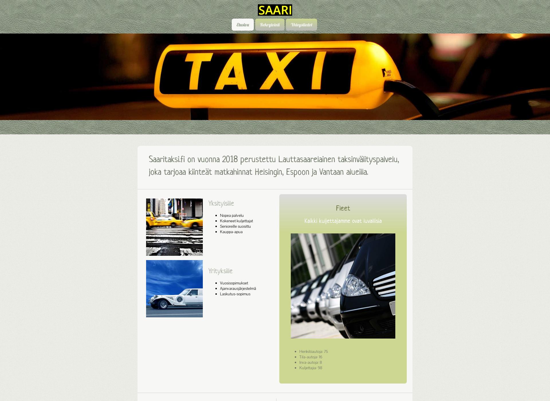 Screenshot for saaritaksi.fi