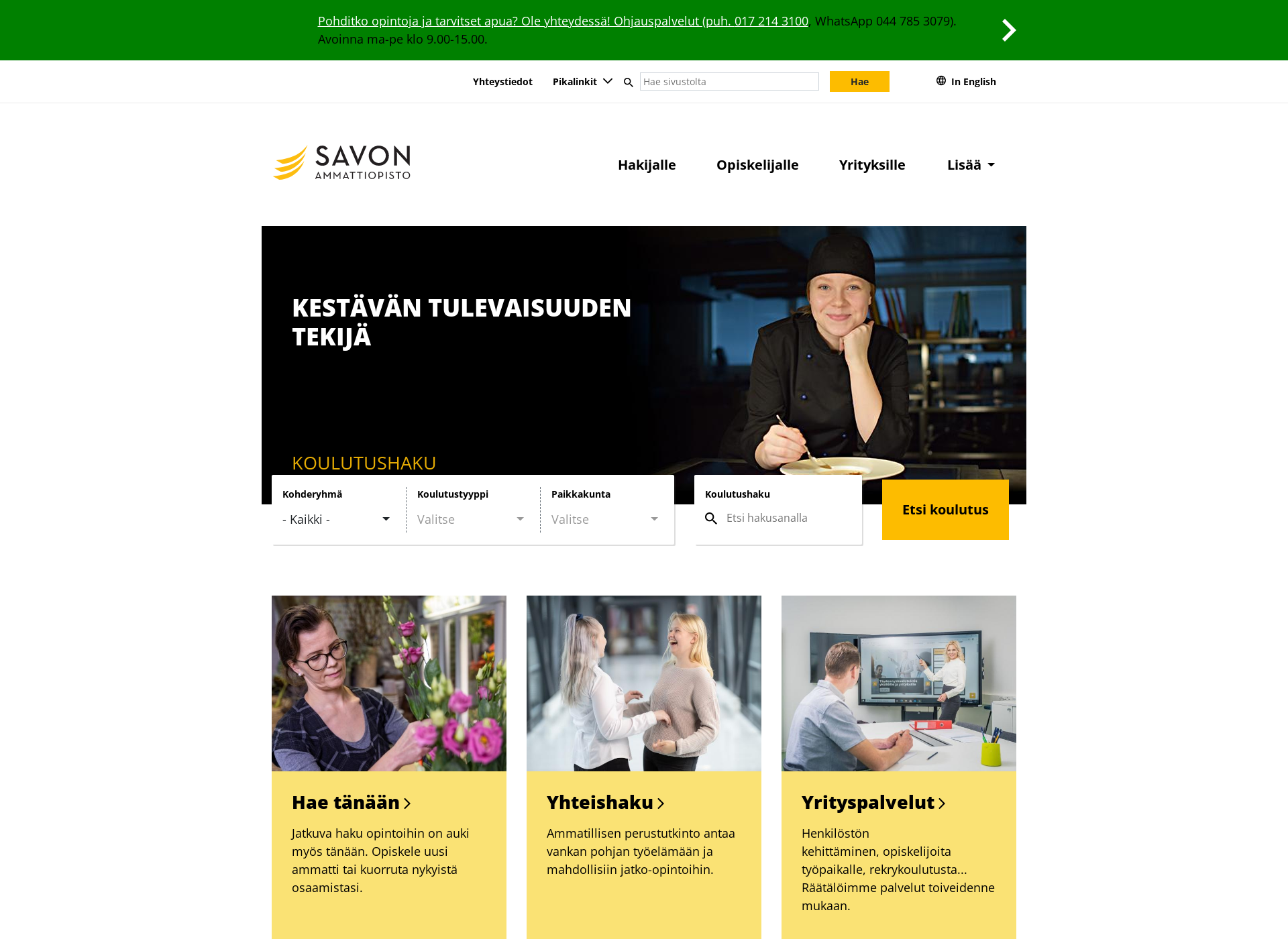 Screenshot for sakky.fi