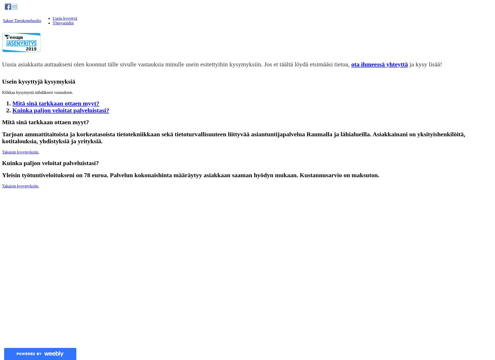 Screenshot for sakuntietokonehuolto.fi