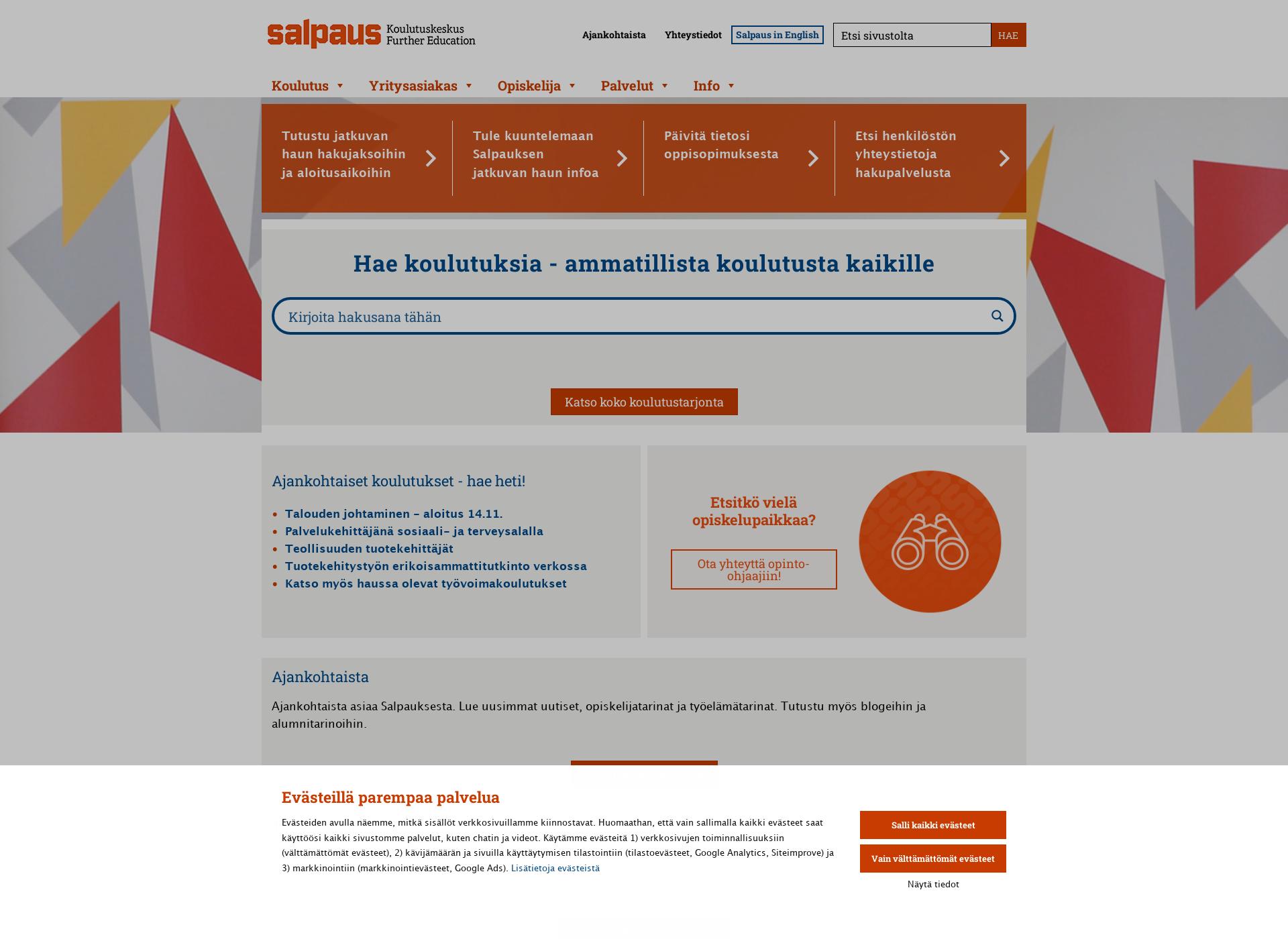 Screenshot for salpaus.fi