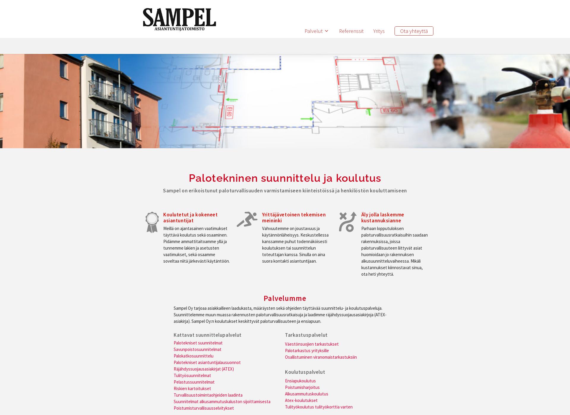 Screenshot for sampel.fi