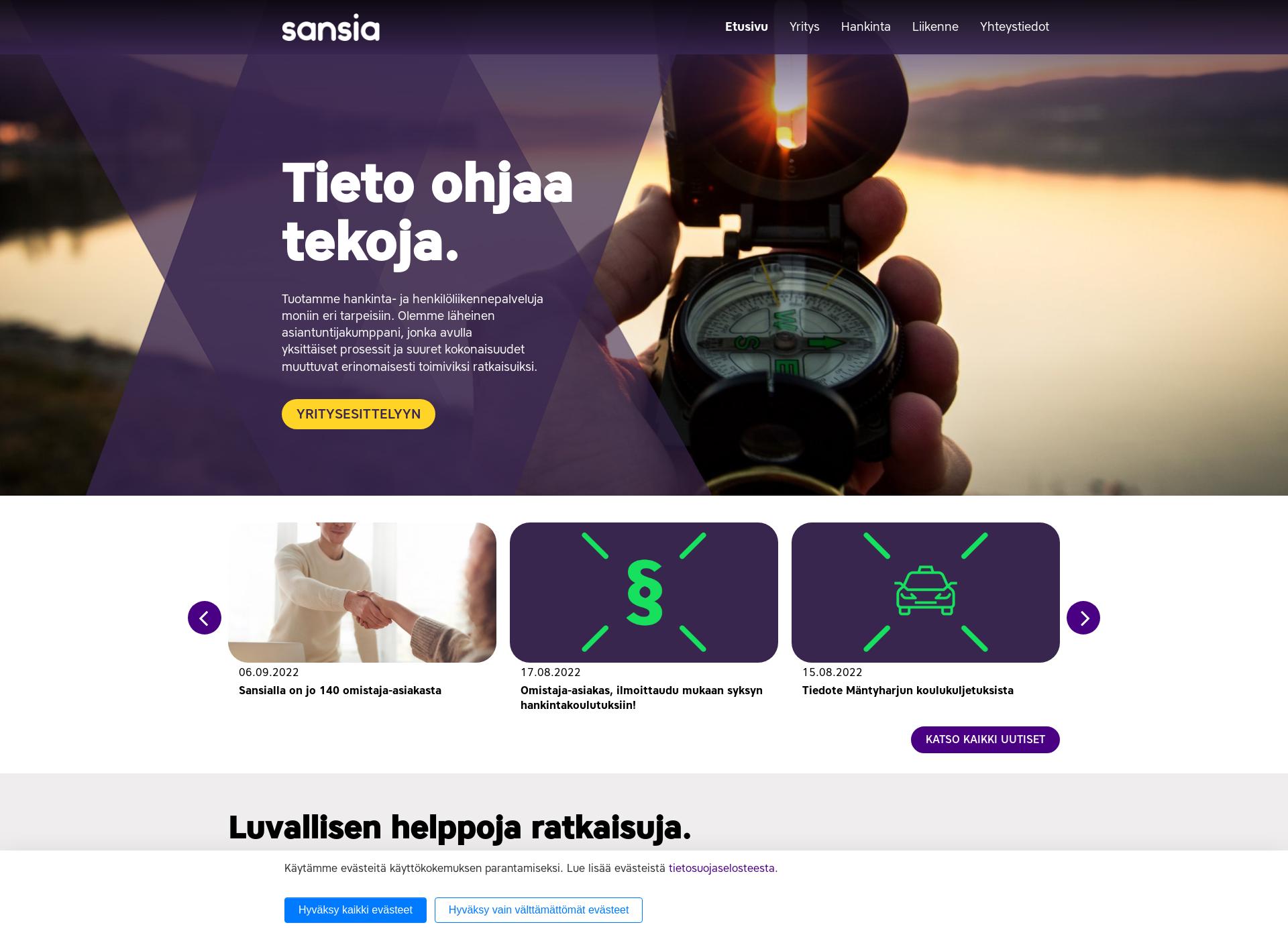Screenshot for sansia.fi