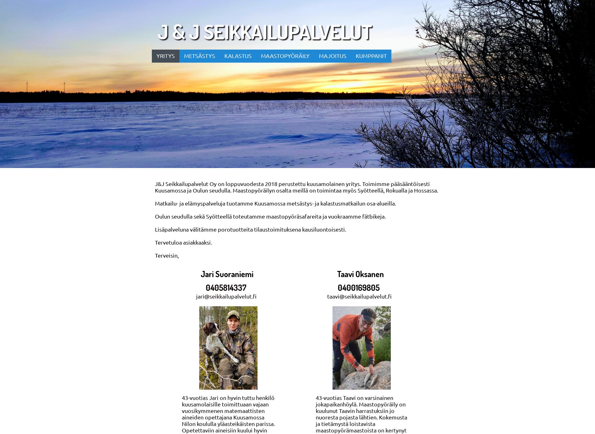 Screenshot for seikkailupalvelut.fi