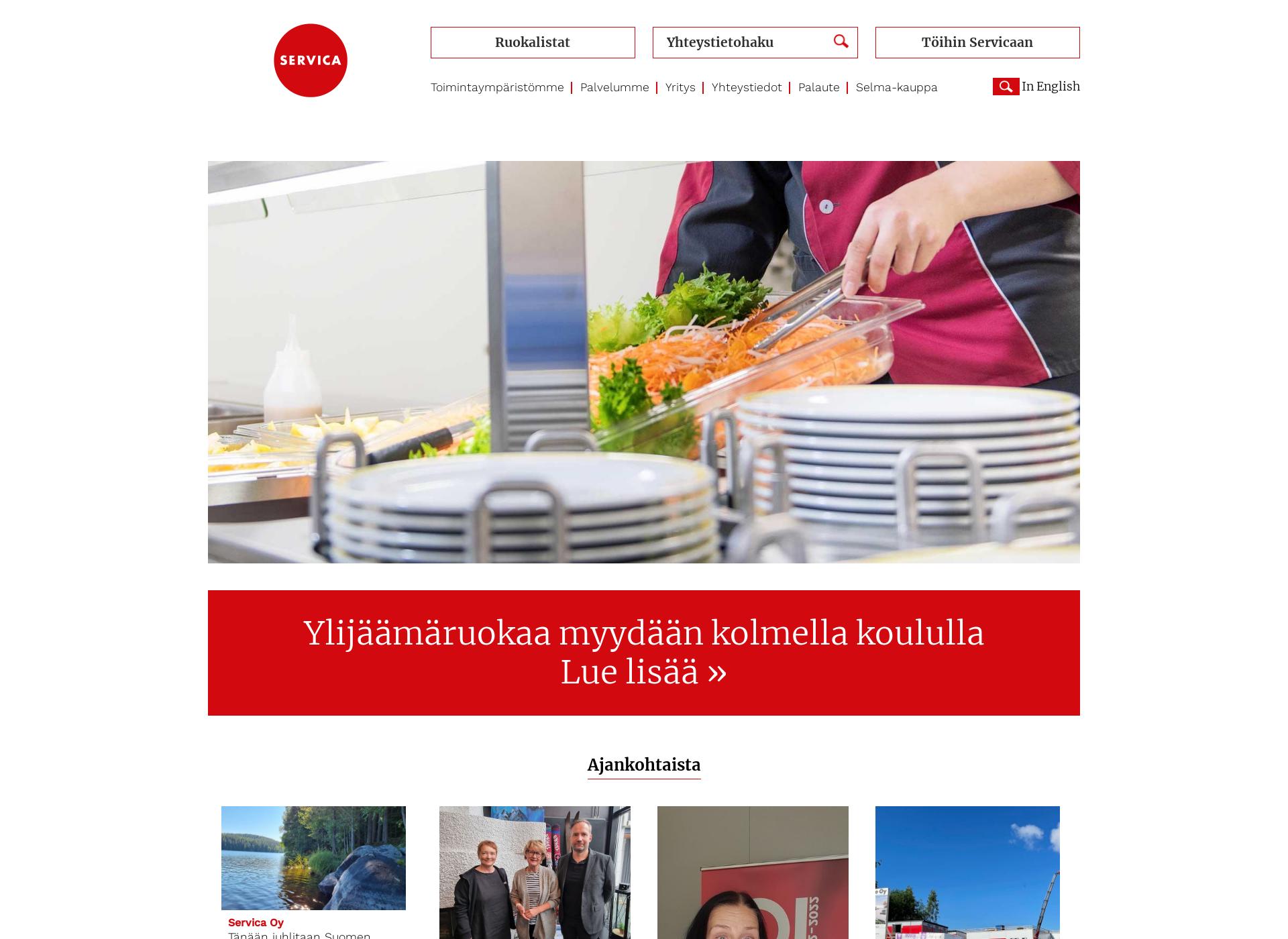 Screenshot for servica.fi