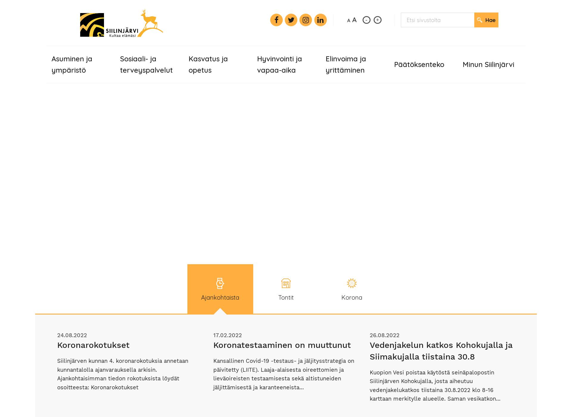 Screenshot for siilinjarvi.fi