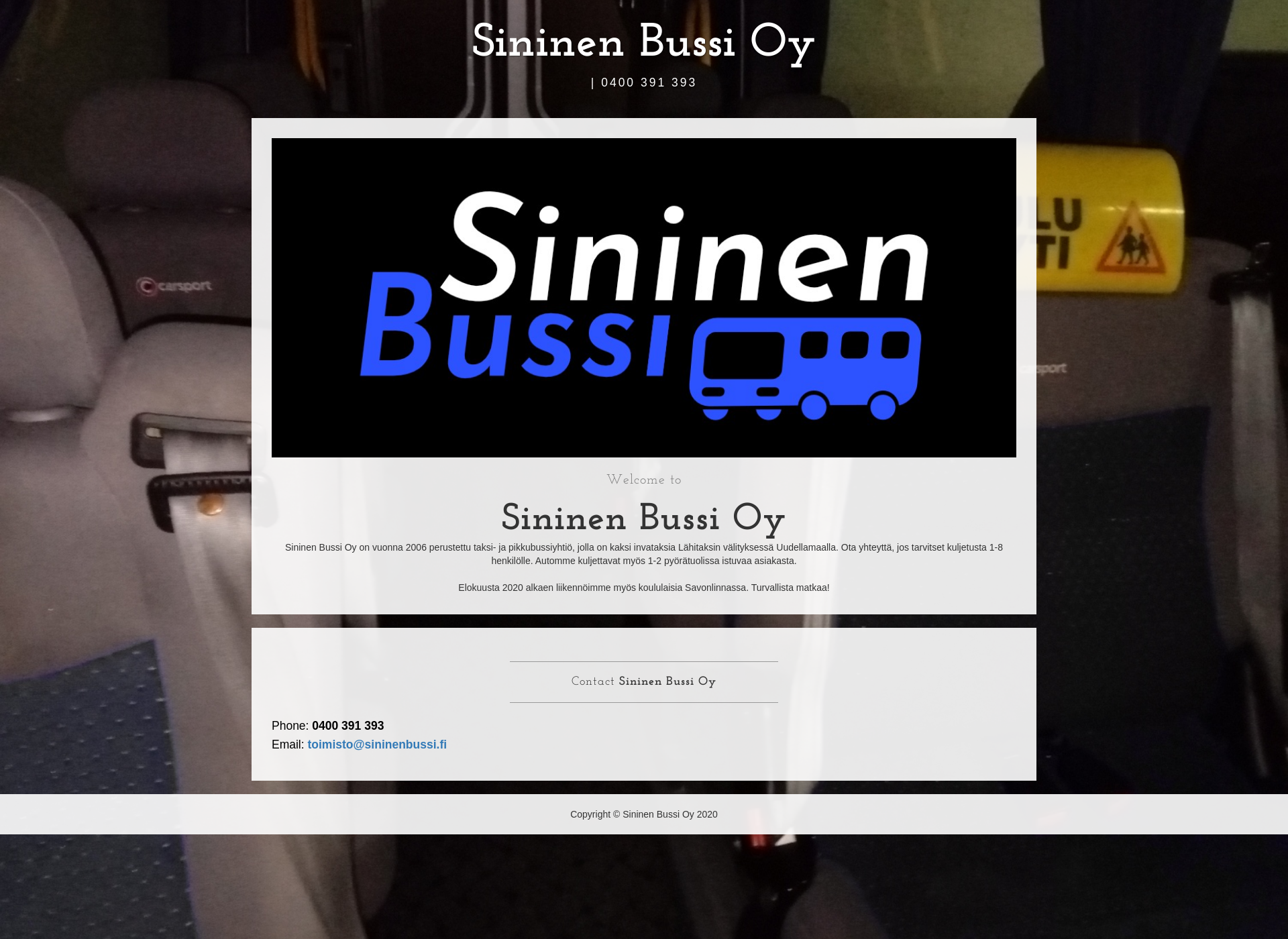 Screenshot for sininenbussi.fi
