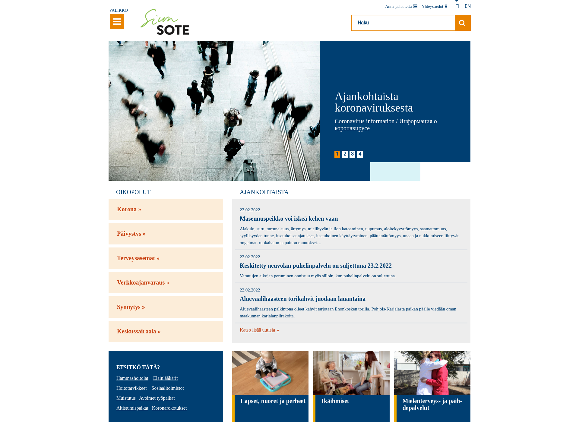Screenshot for siunsote.fi