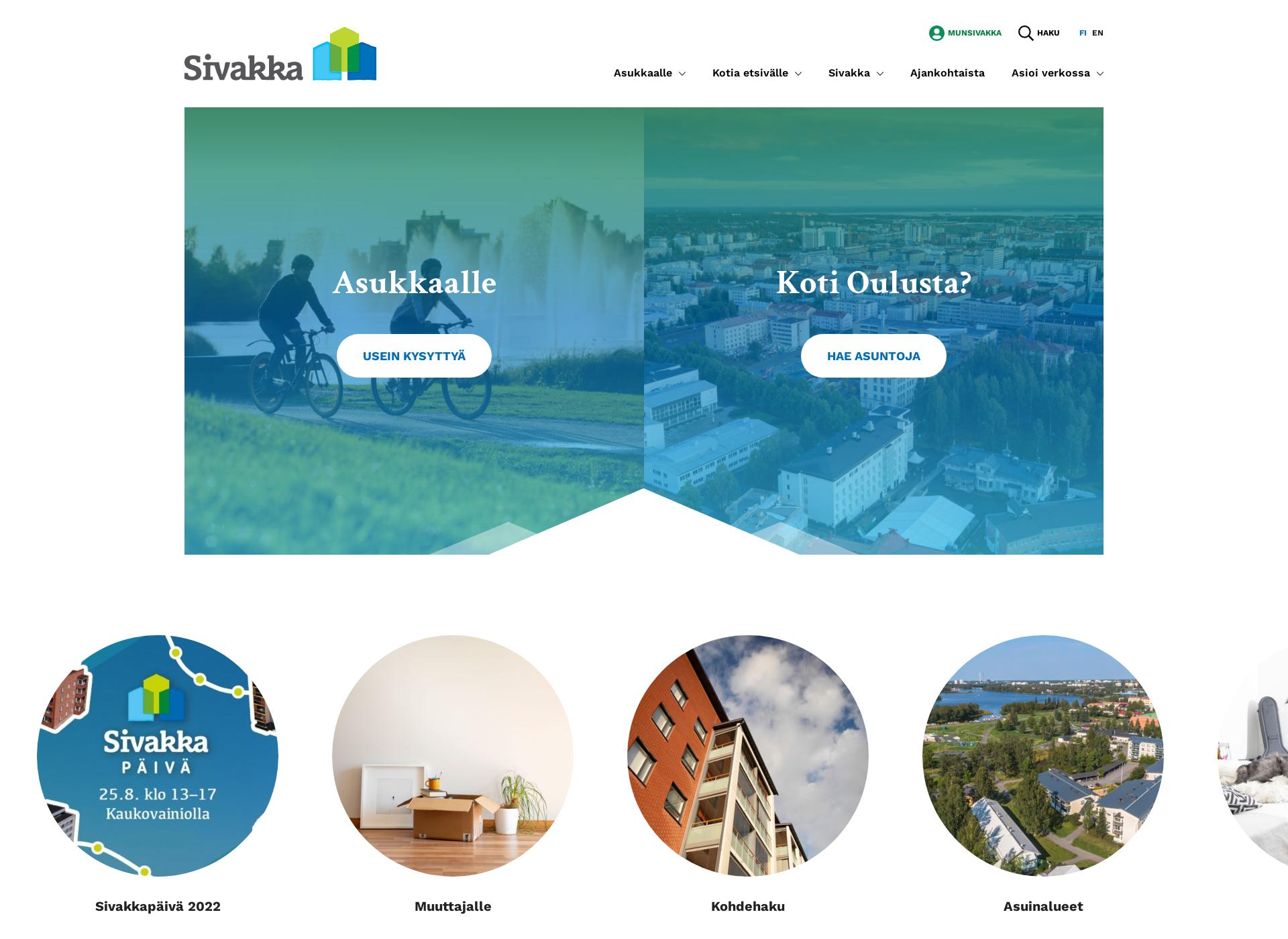 Screenshot for sivakka.fi