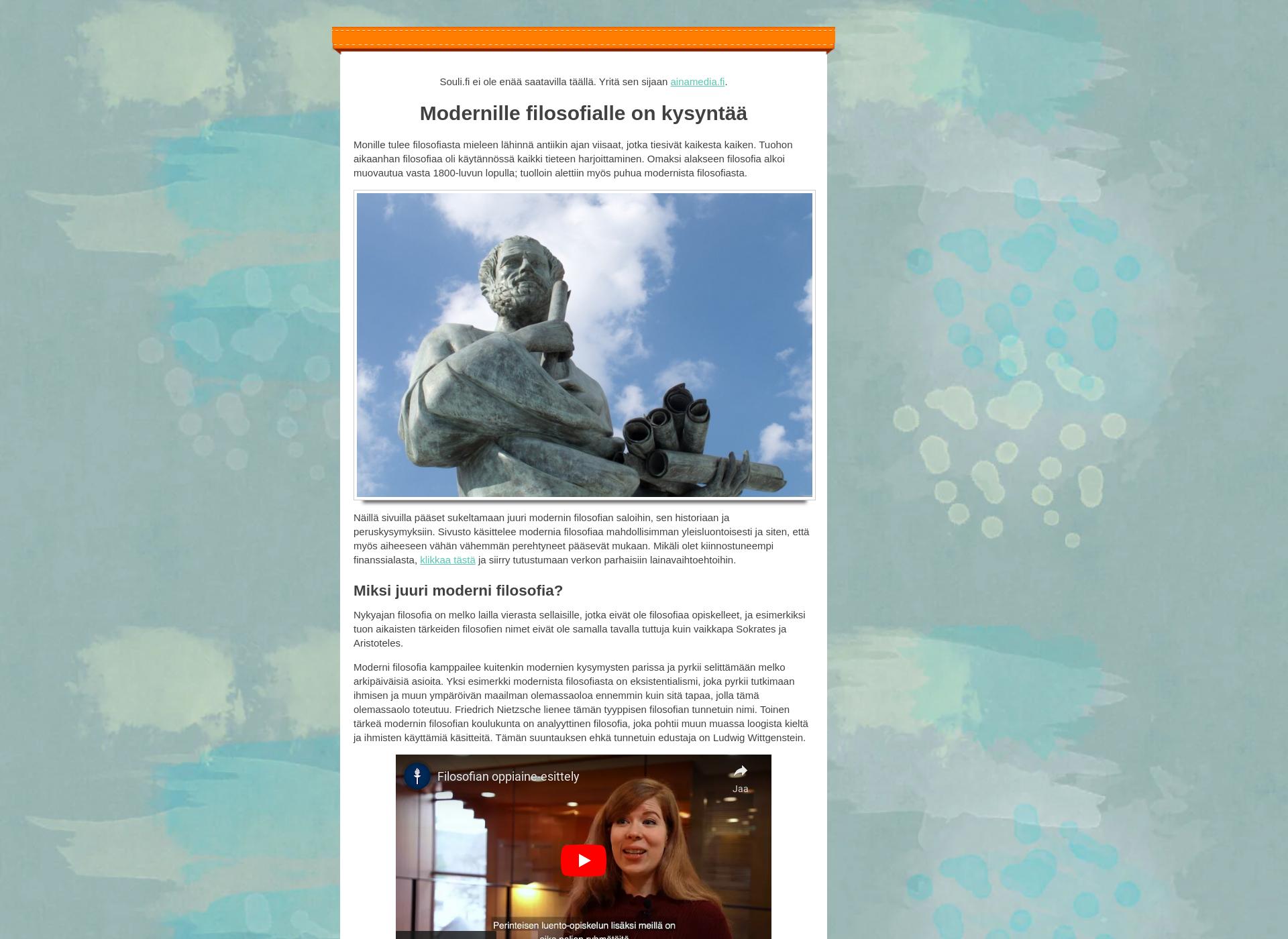 Screenshot for souli.fi