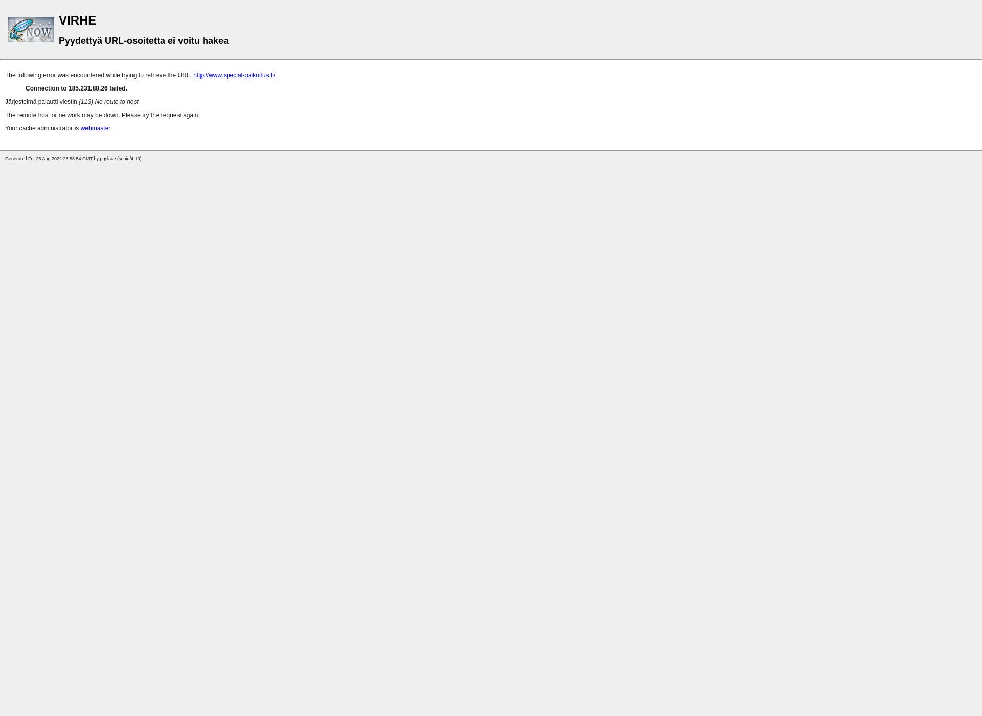 Screenshot for special-paikoitus.fi