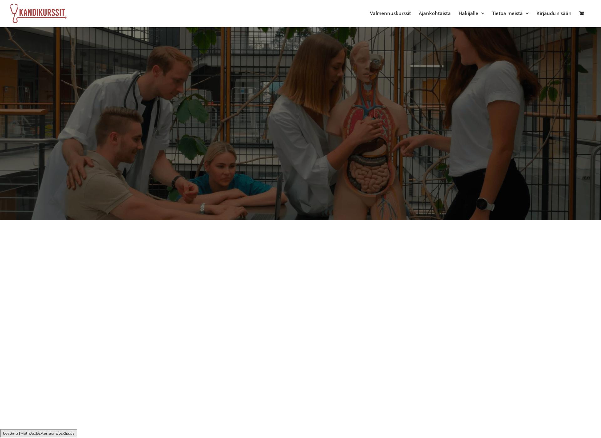 Screenshot for stadinlääkiksenvalmennuskurssit.fi