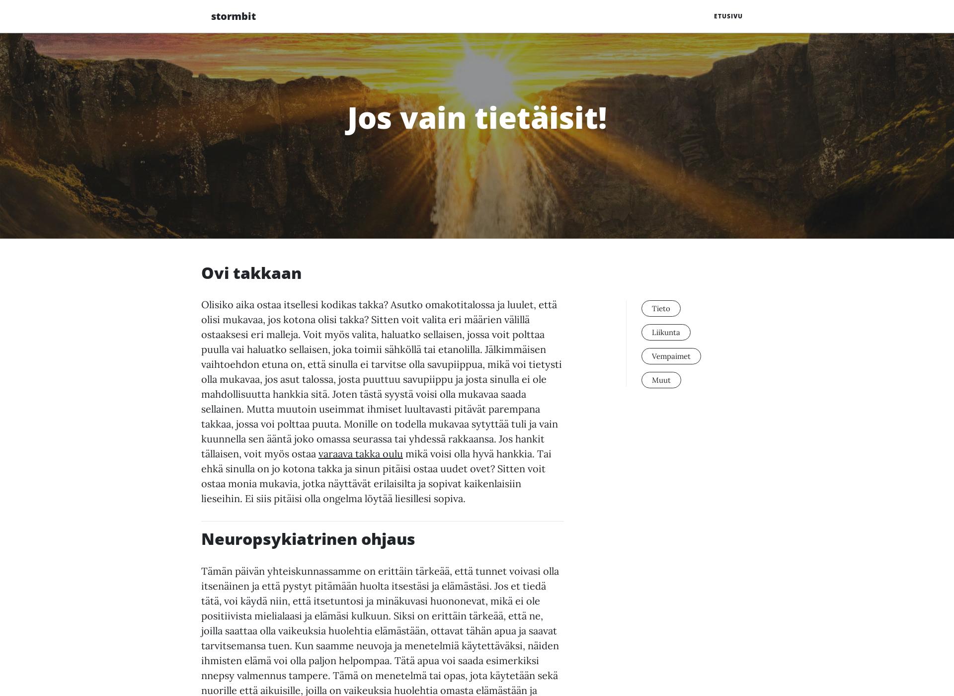 Screenshot for stormbit.fi