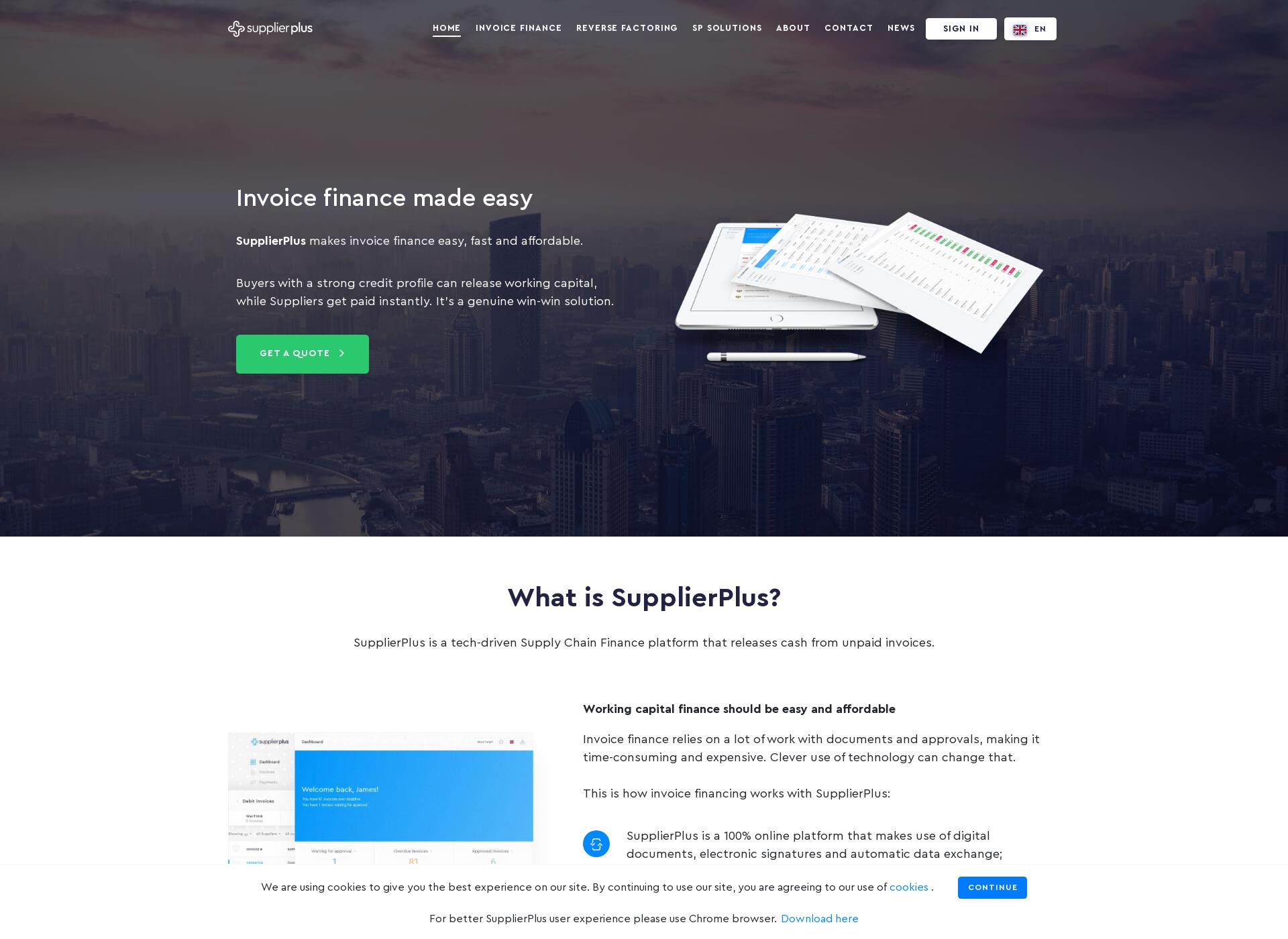 Screenshot for supplierplus.fi