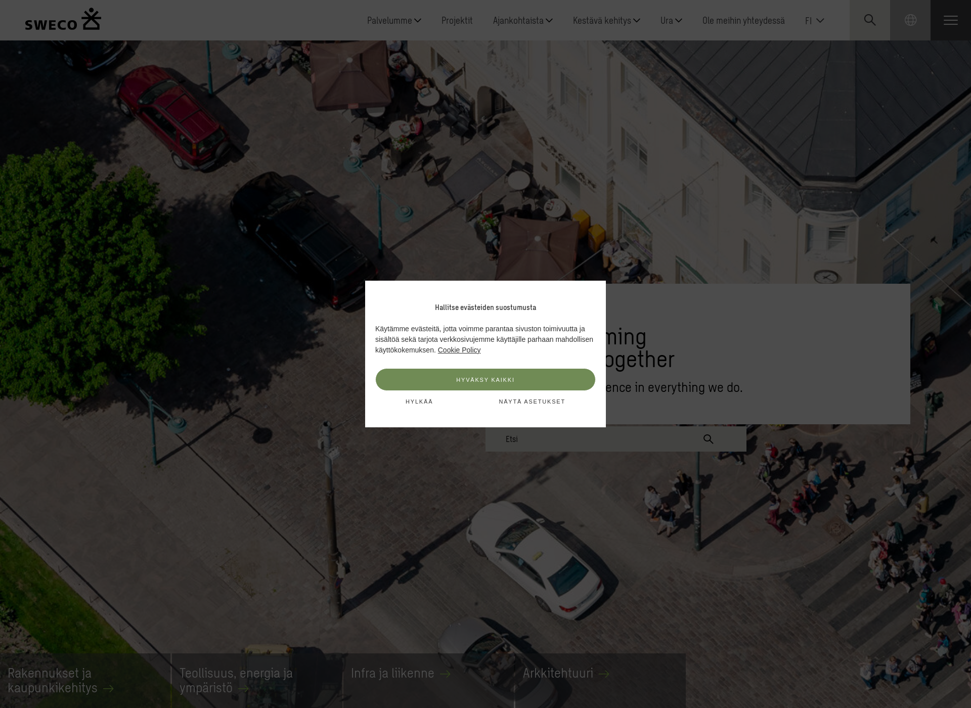 Screenshot for sweco.fi