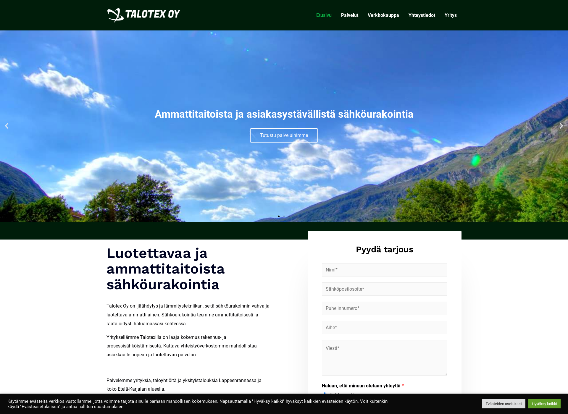 Screenshot for talotex.fi