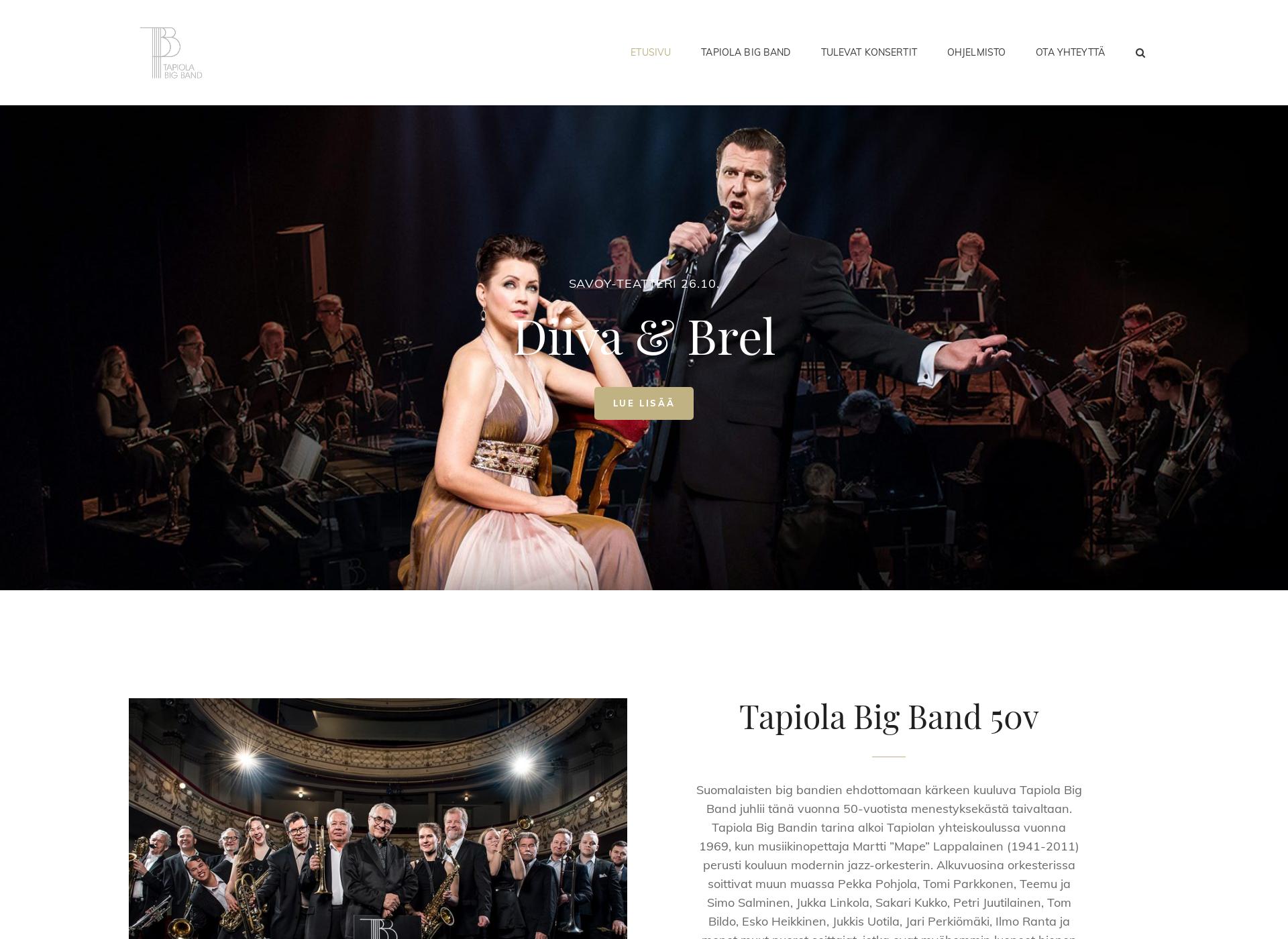 Screenshot for tapiolabigband.fi