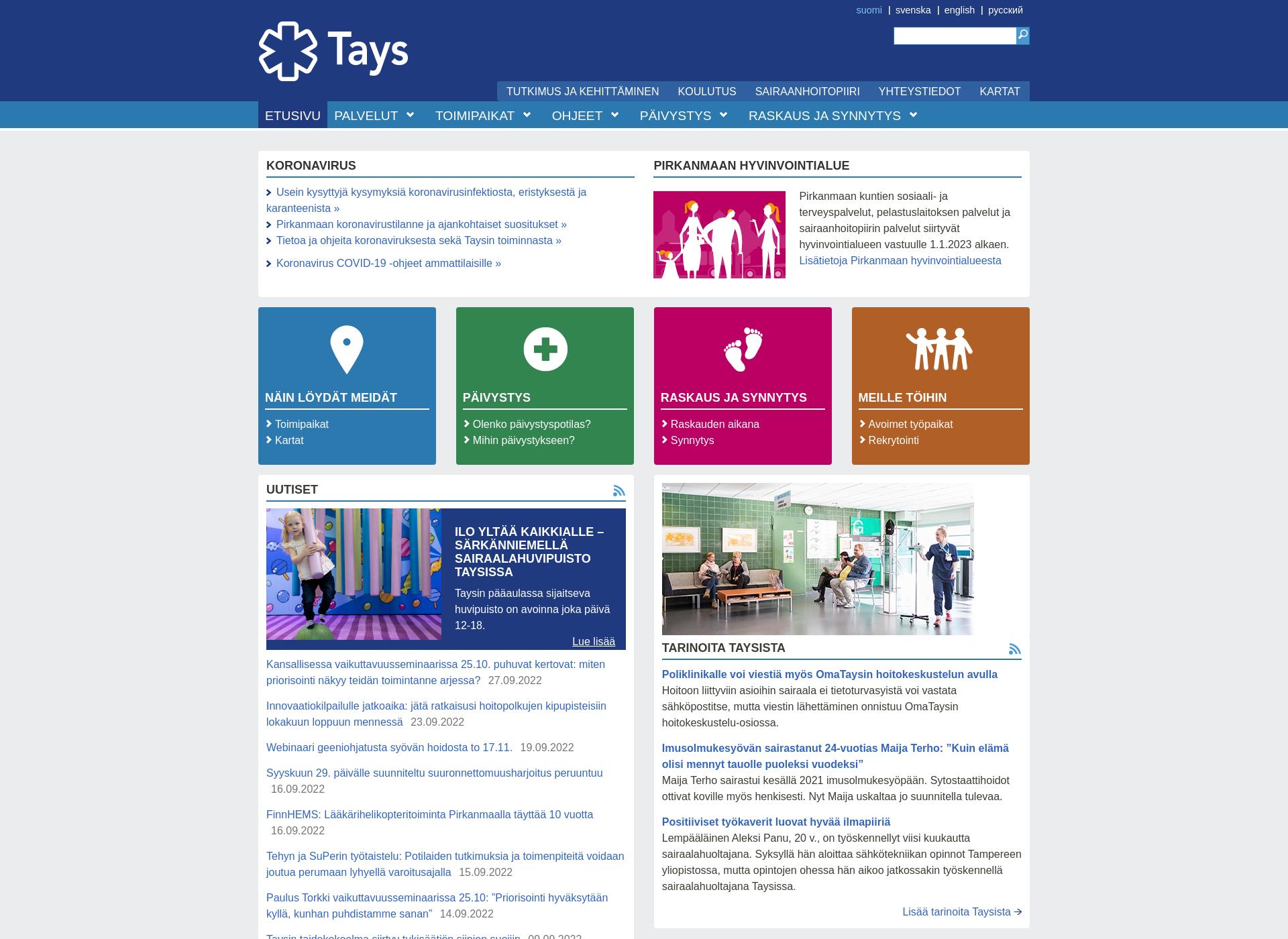 Screenshot for tays.fi