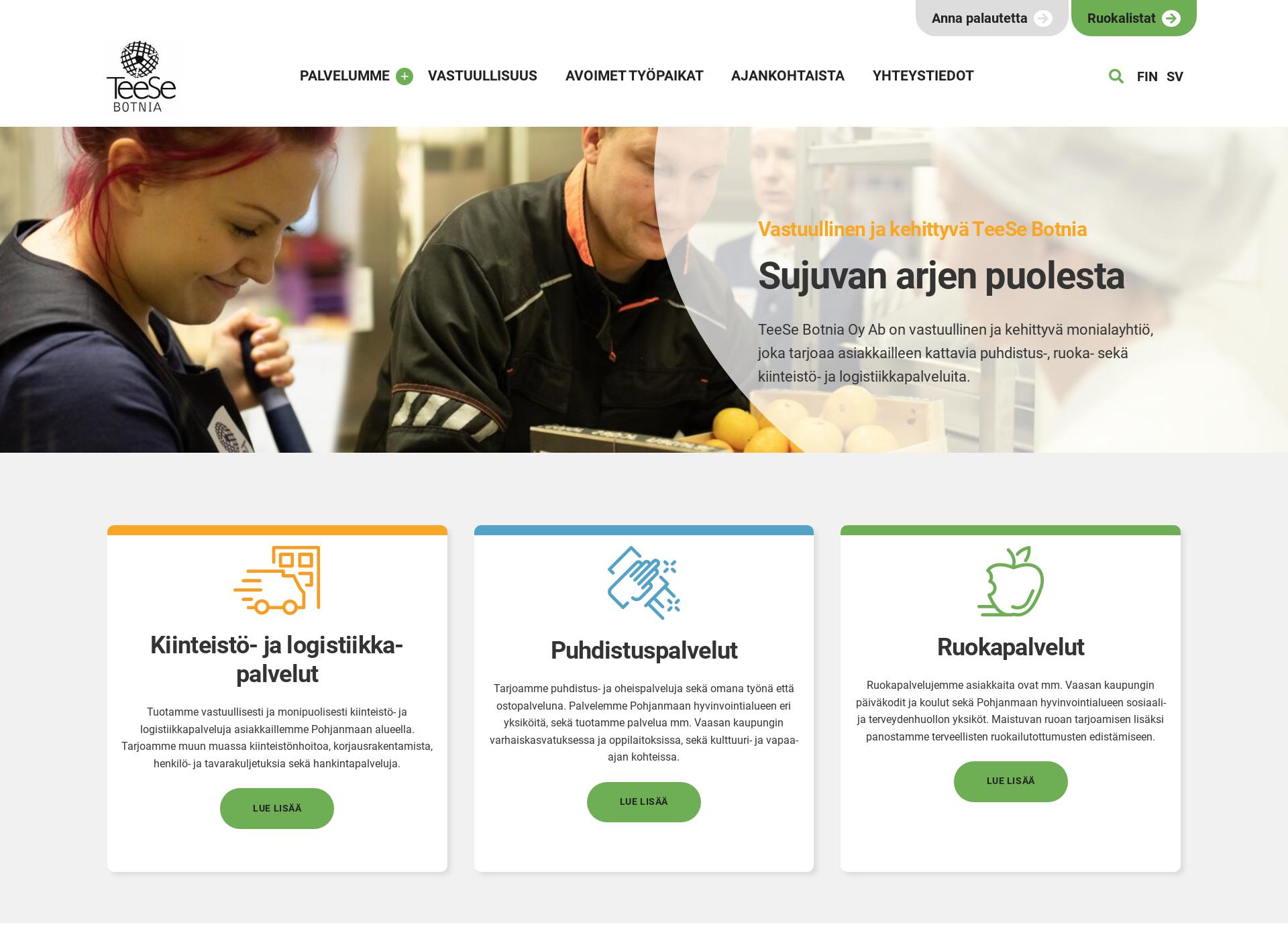 Screenshot for teese.fi
