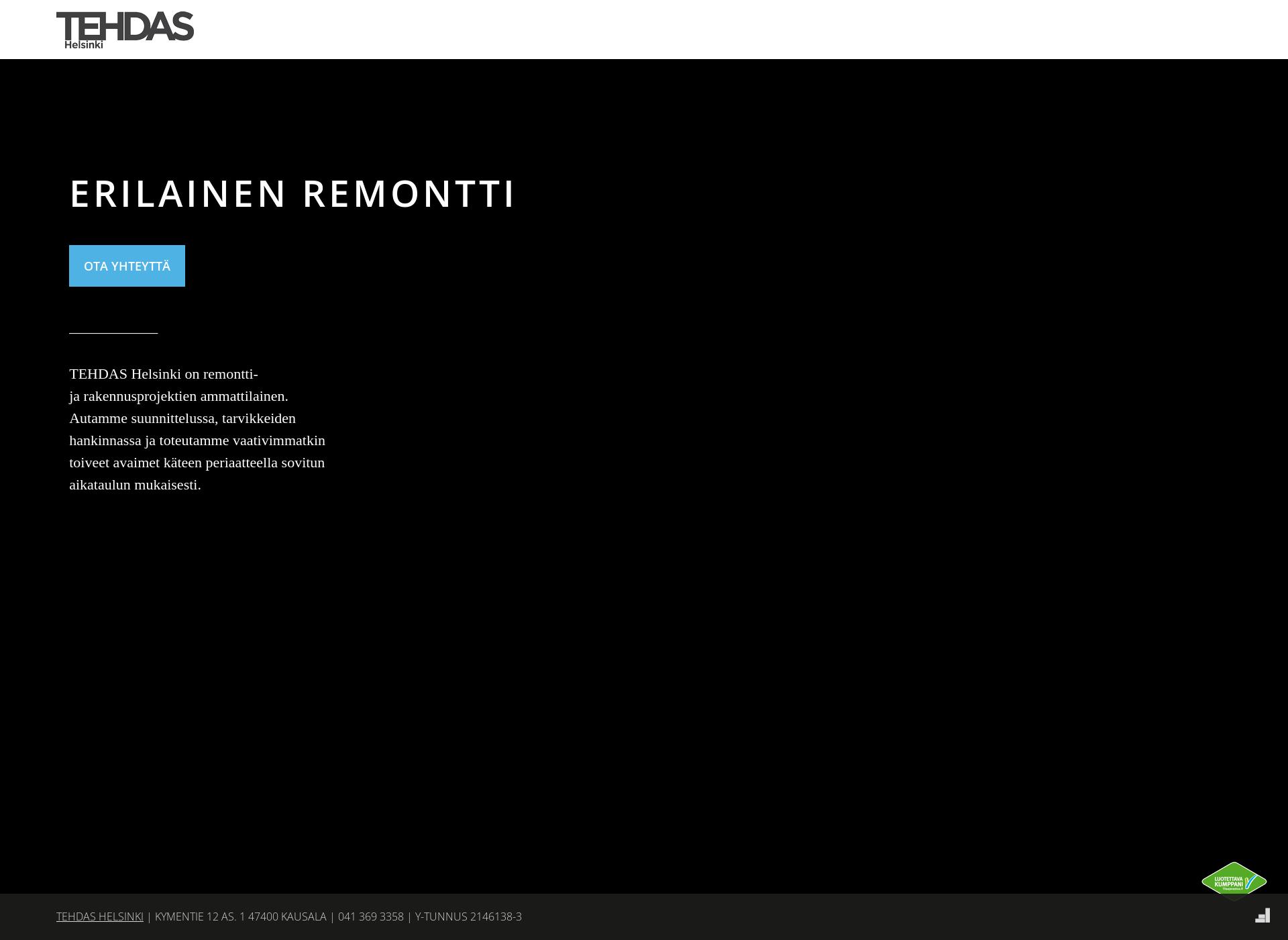Screenshot for tehdashelsinki.fi