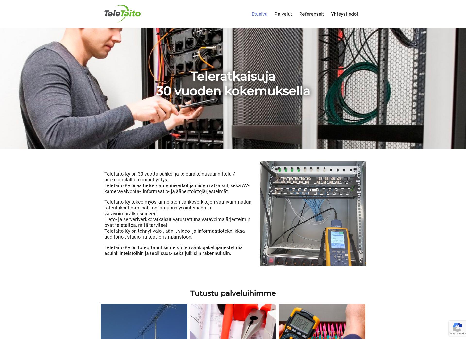 Screenshot for teletaito.fi