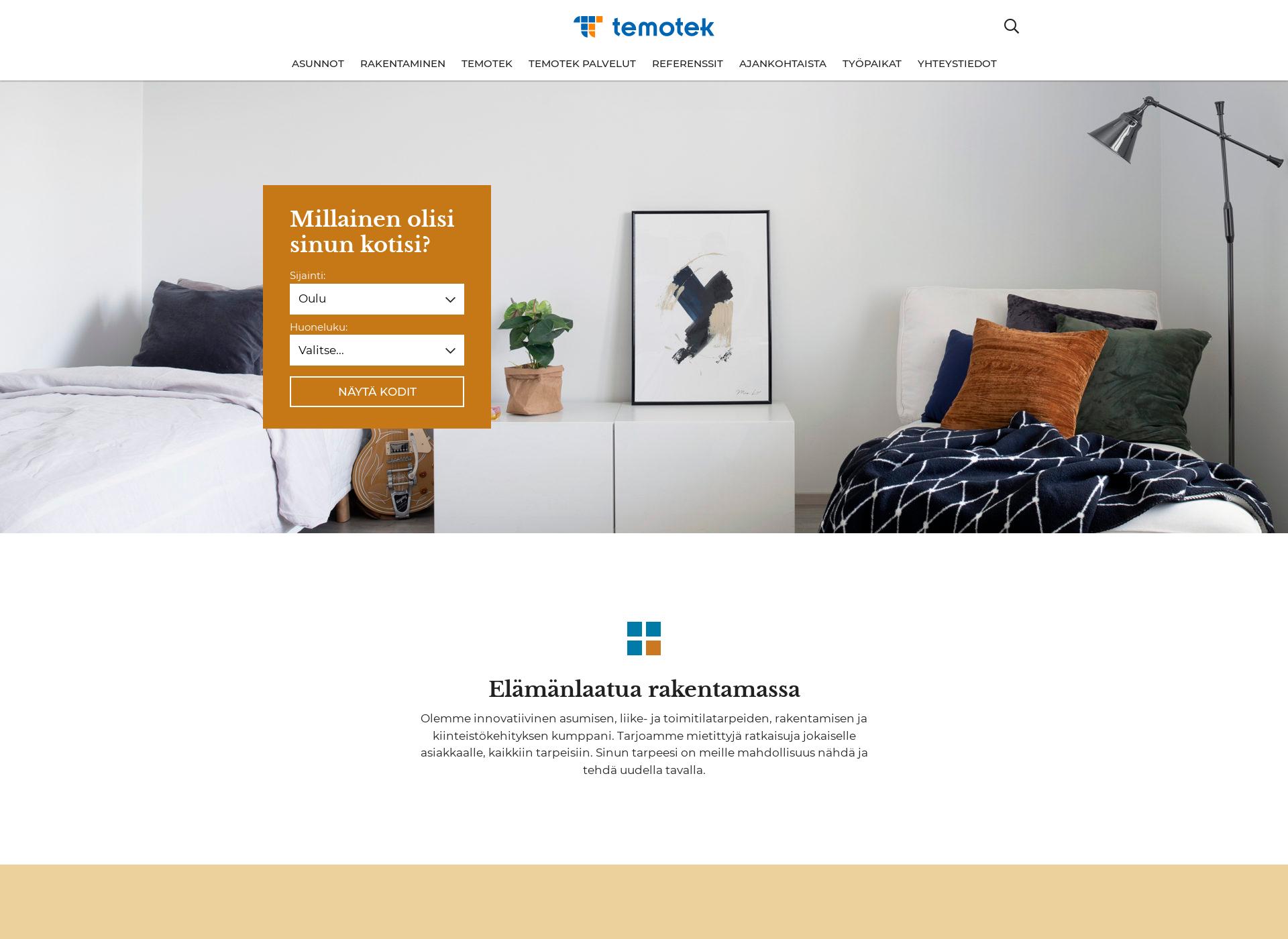 Screenshot for temotek.fi