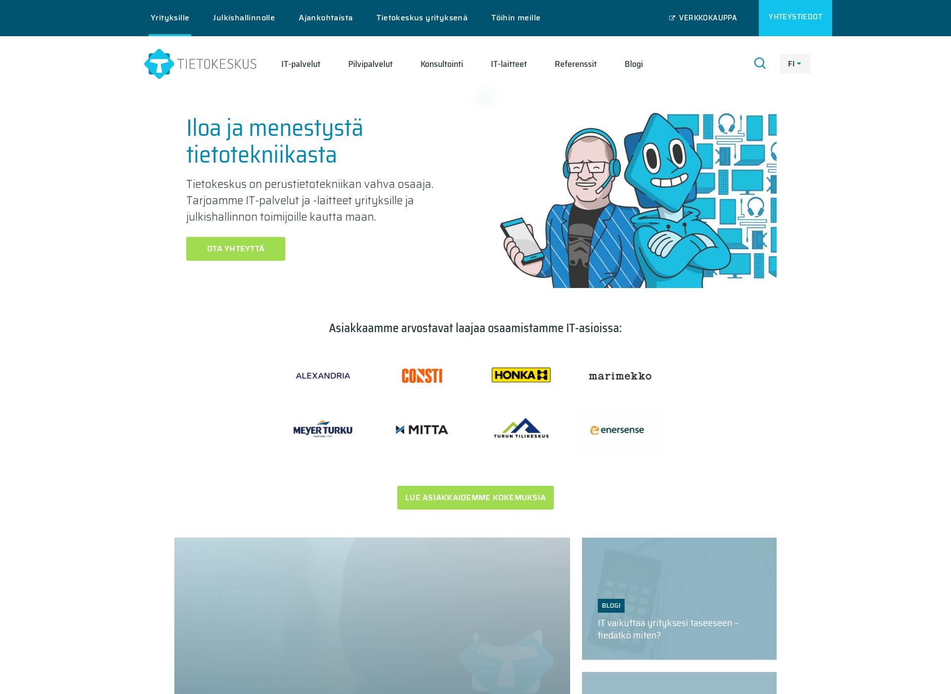 Screenshot for tietokeskus.fi