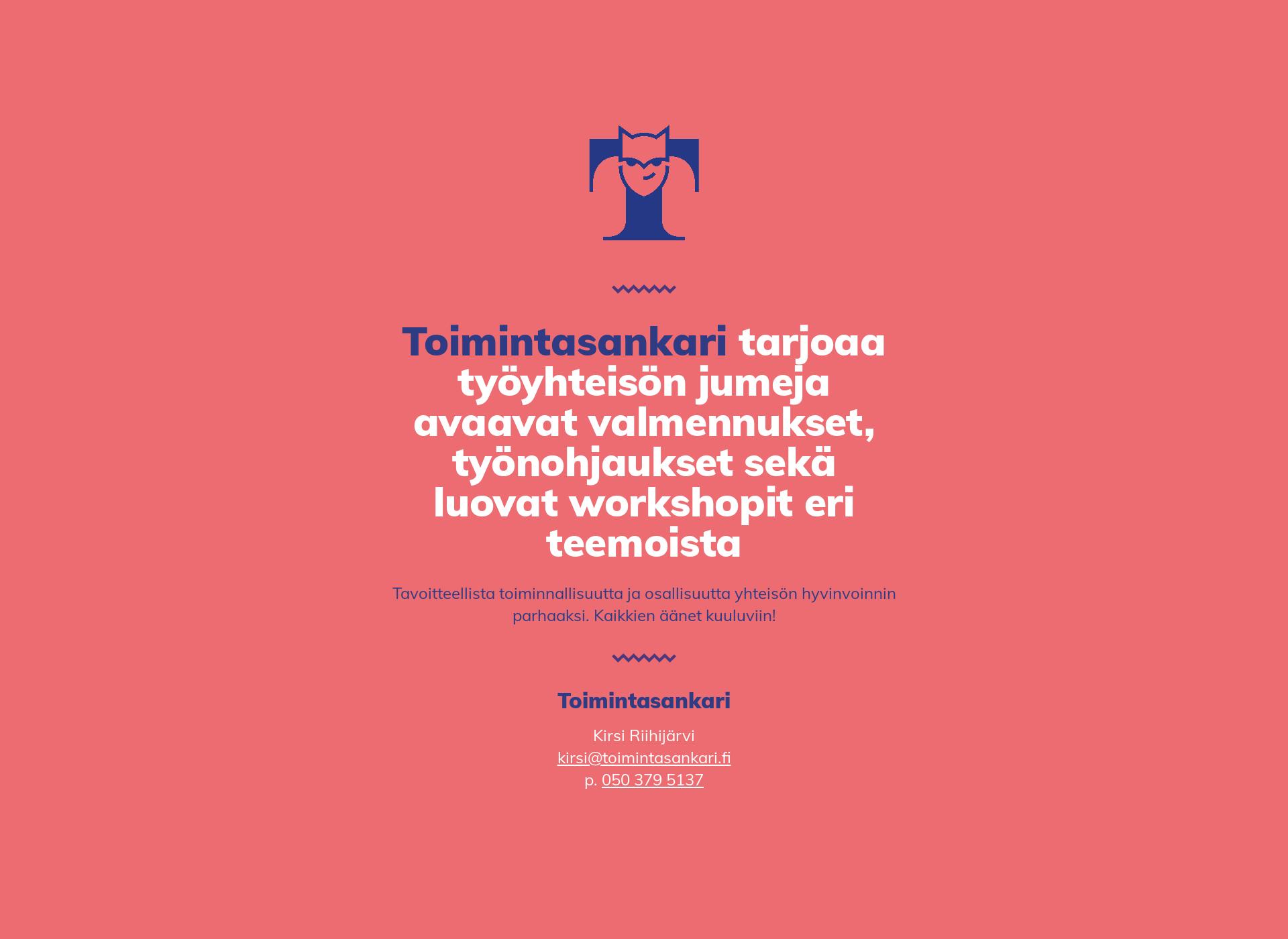 Screenshot for toimintasankari.fi