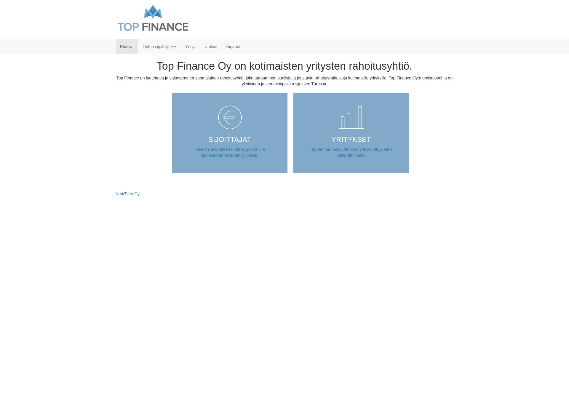 Screenshot for topfinance.fi
