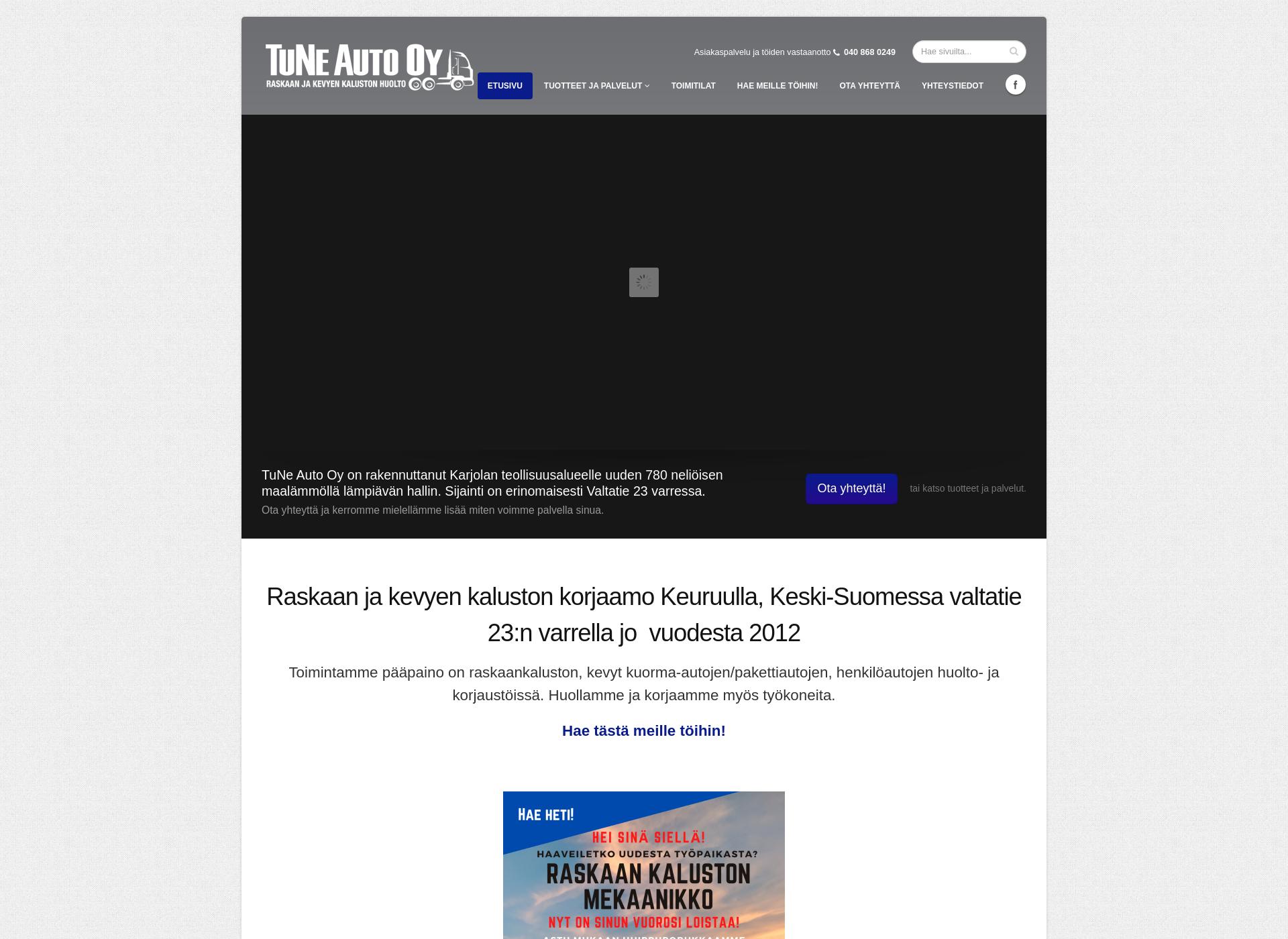 Screenshot for tuneauto.fi
