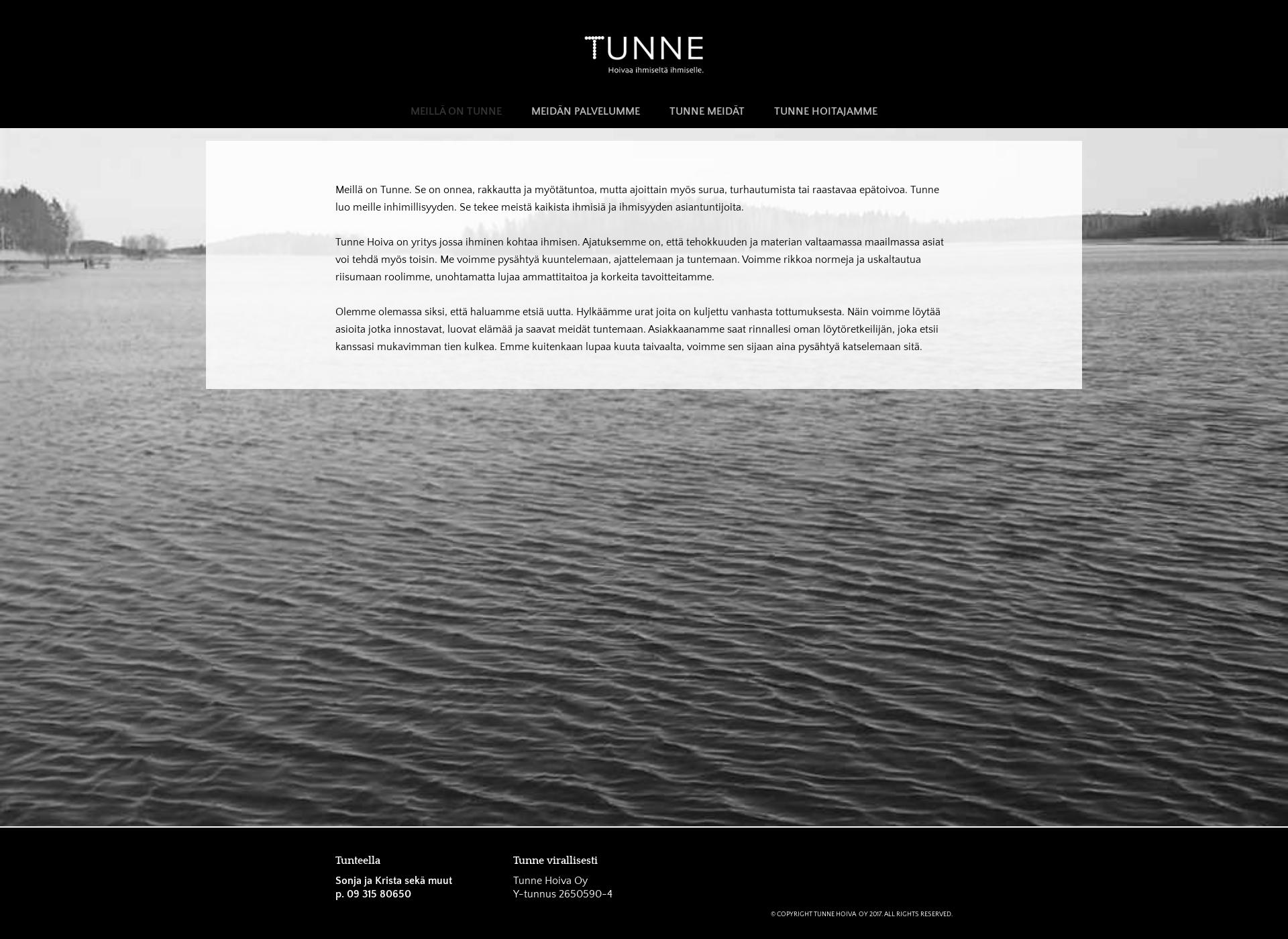 Screenshot for tunnehoiva.fi