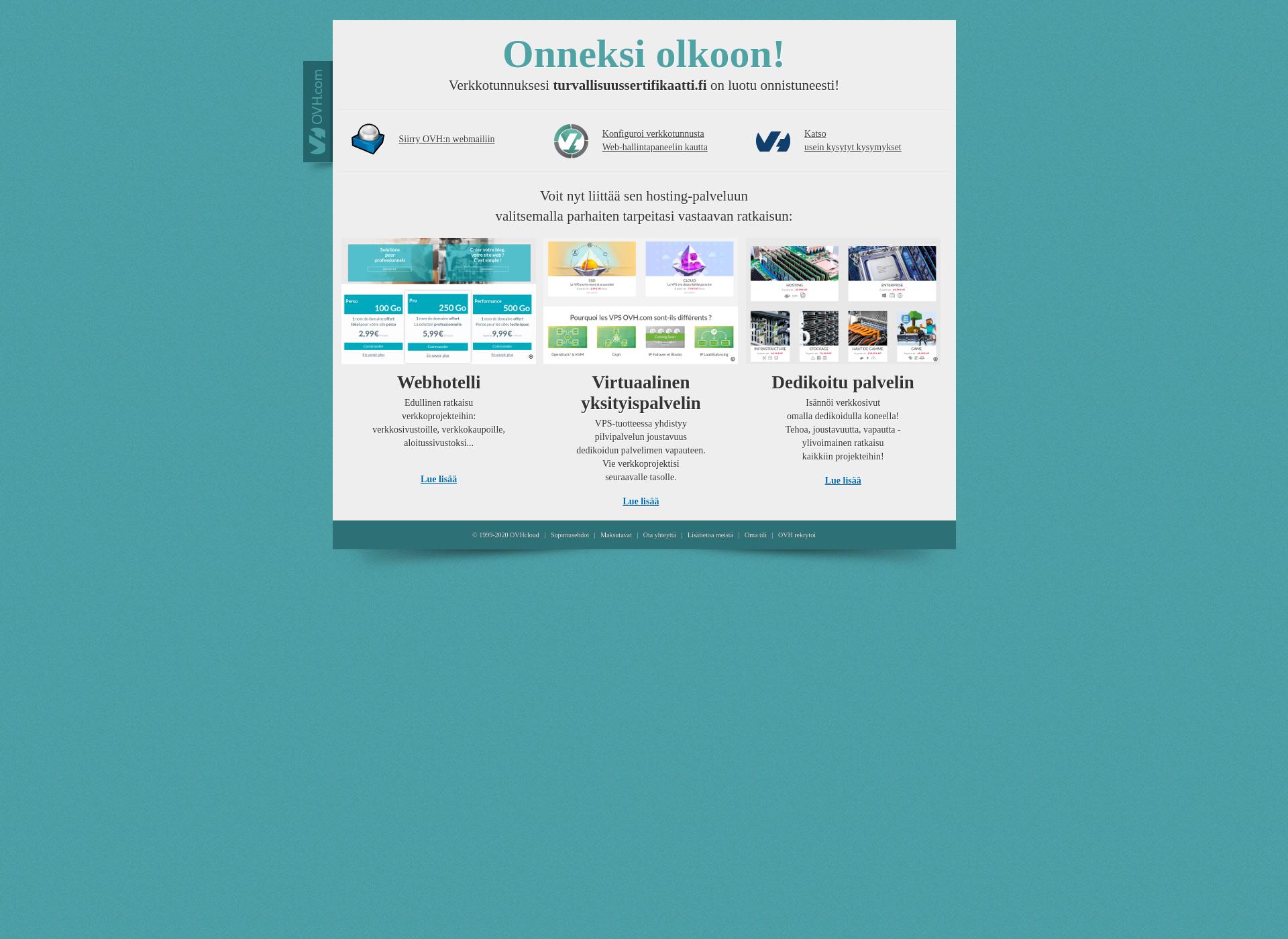 Screenshot for turvallisuussertifikaatti.fi