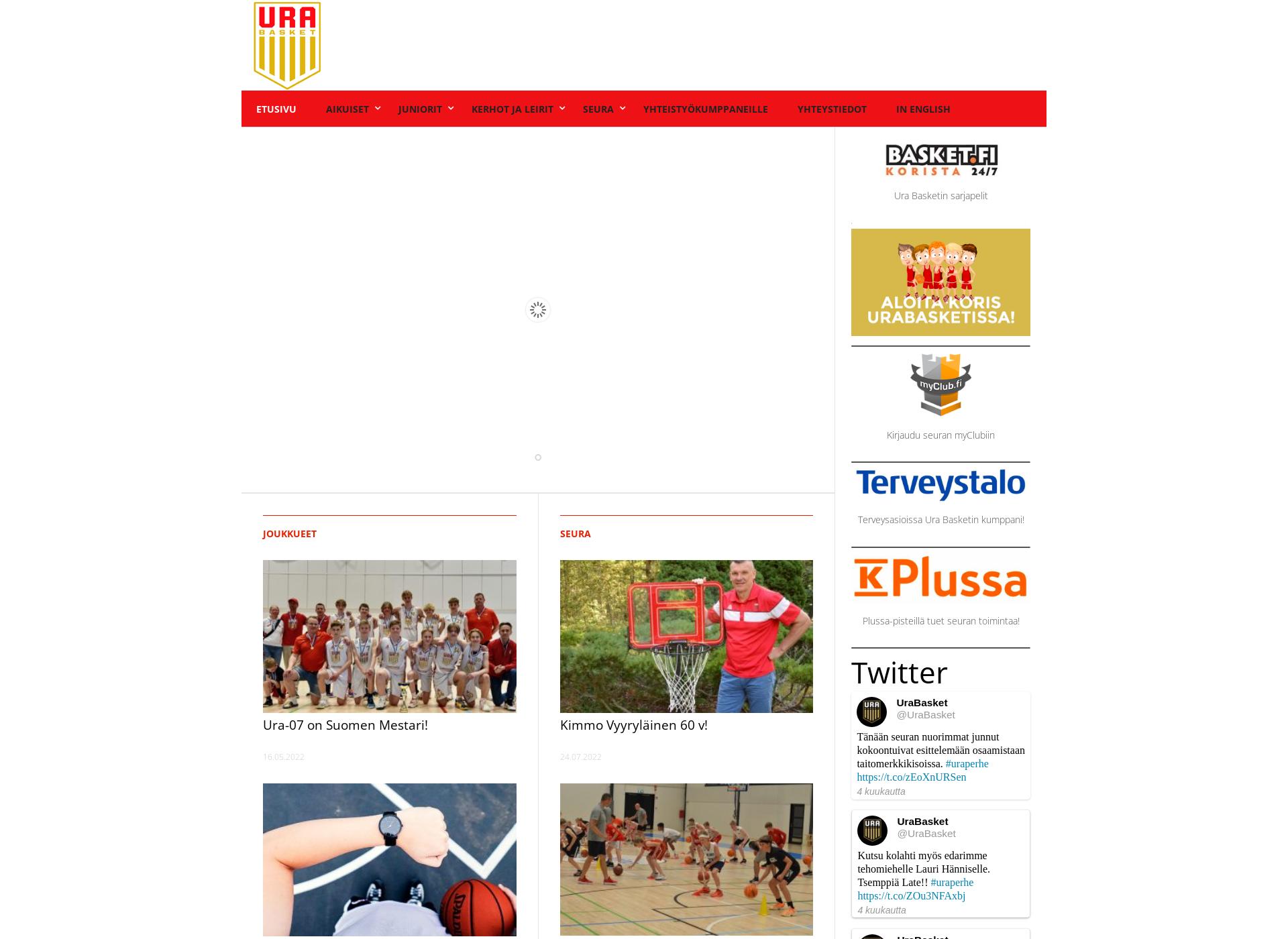 Screenshot for urabasket.fi