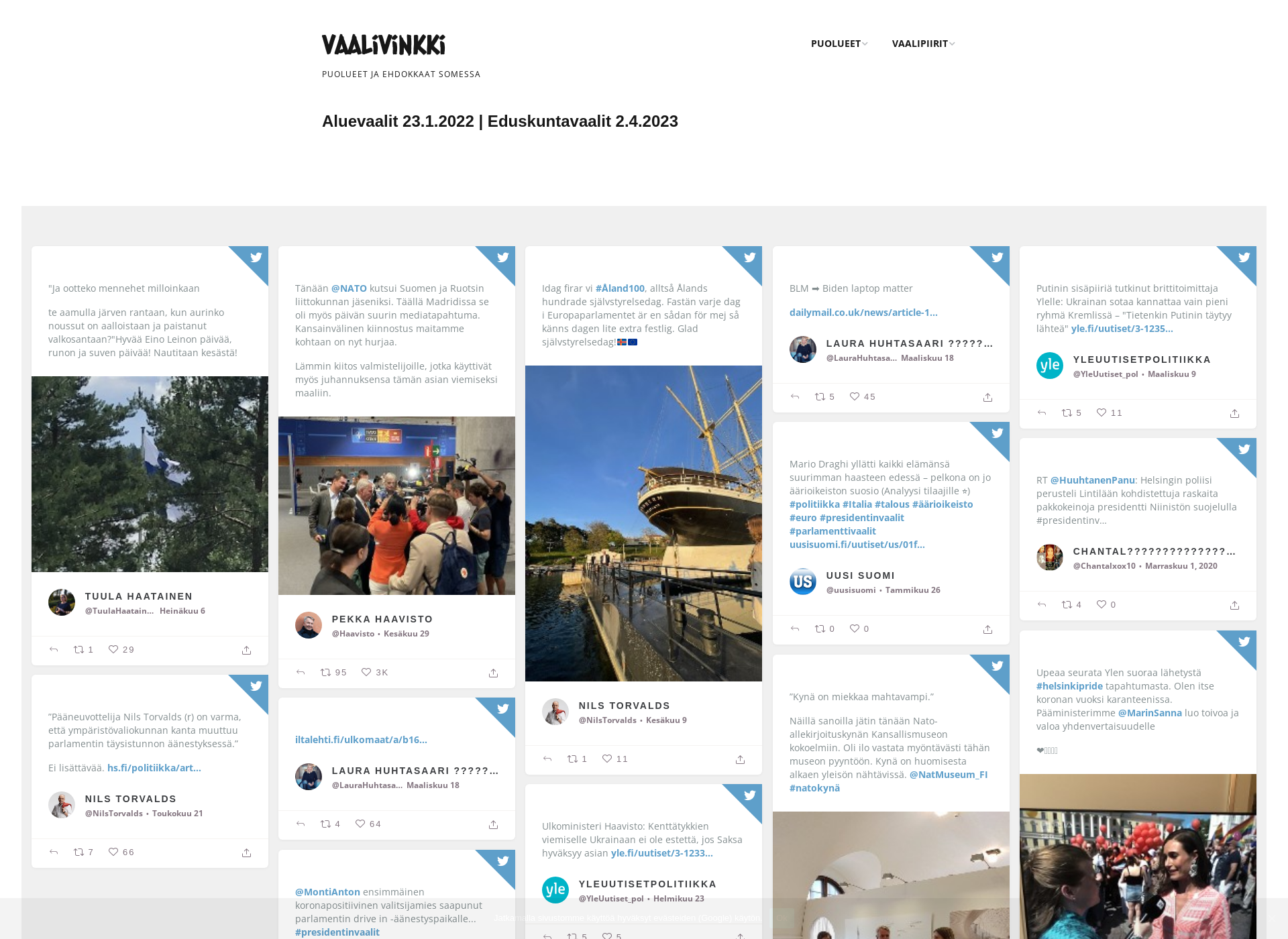 Screenshot for vaalivinkki.fi