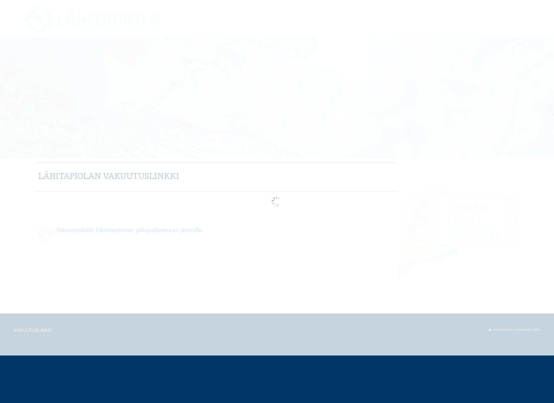 Screenshot for vakuutuslinkki.fi