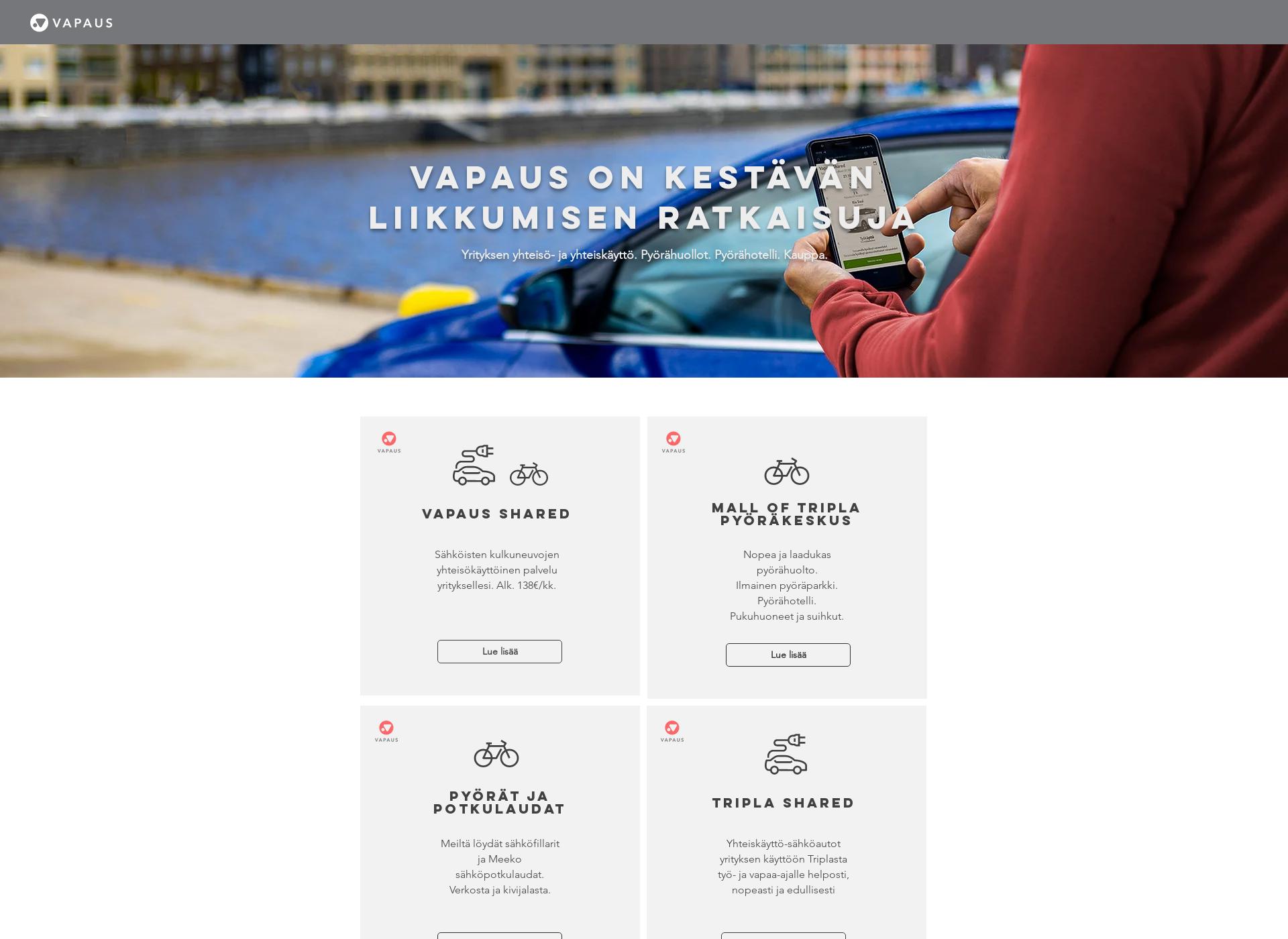 Screenshot for vapausbikes.fi