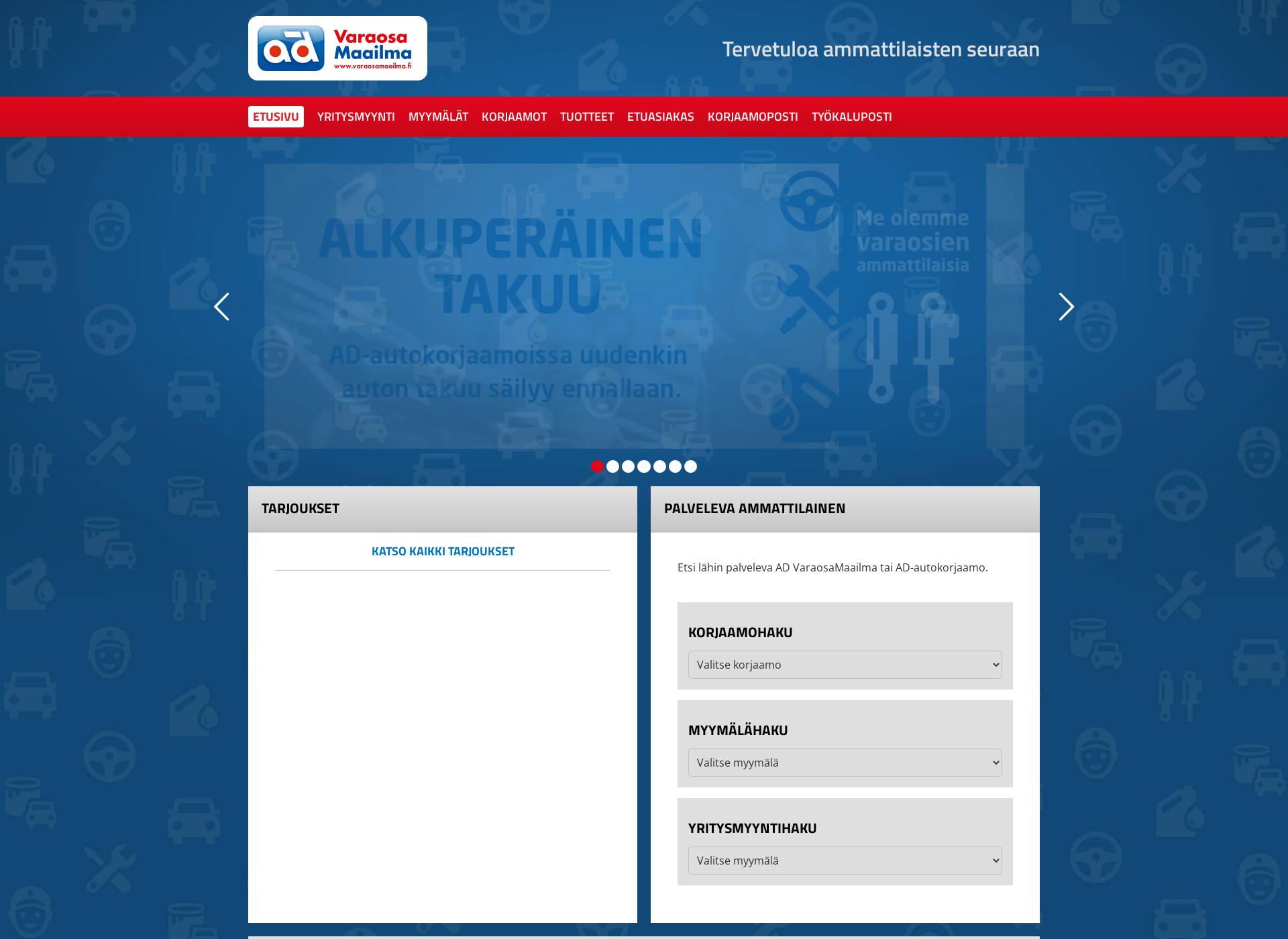 Screenshot for varaosamaailma.fi