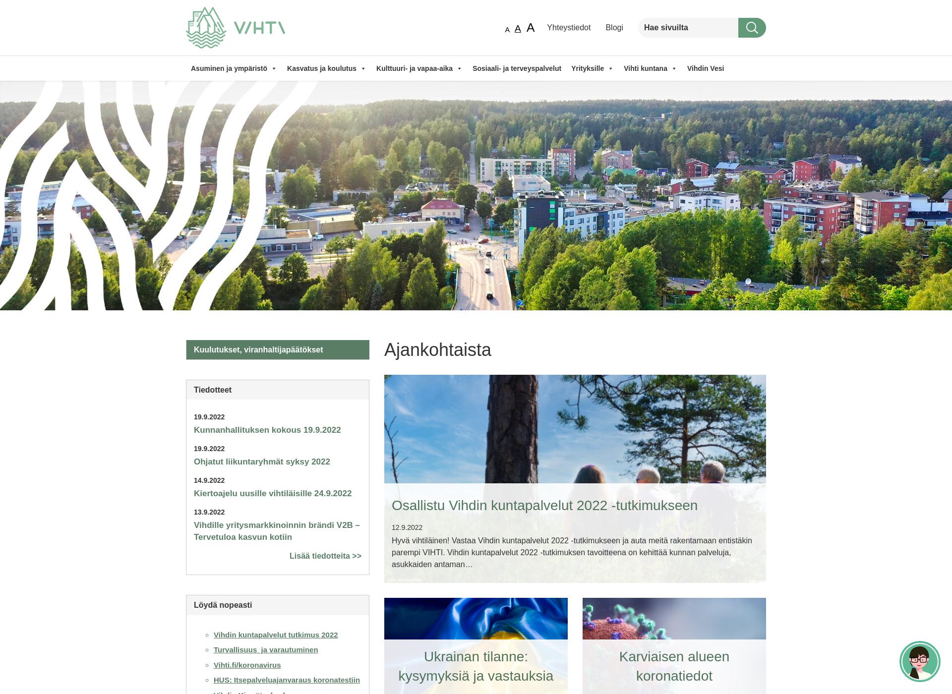 Screenshot for vihti.fi