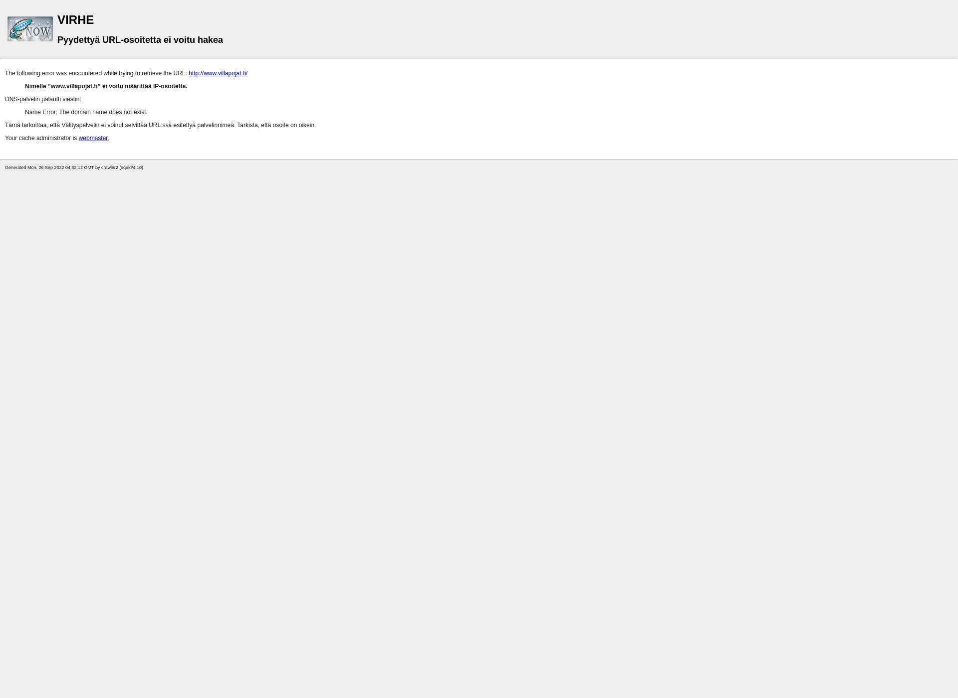 Screenshot for villapojat.fi