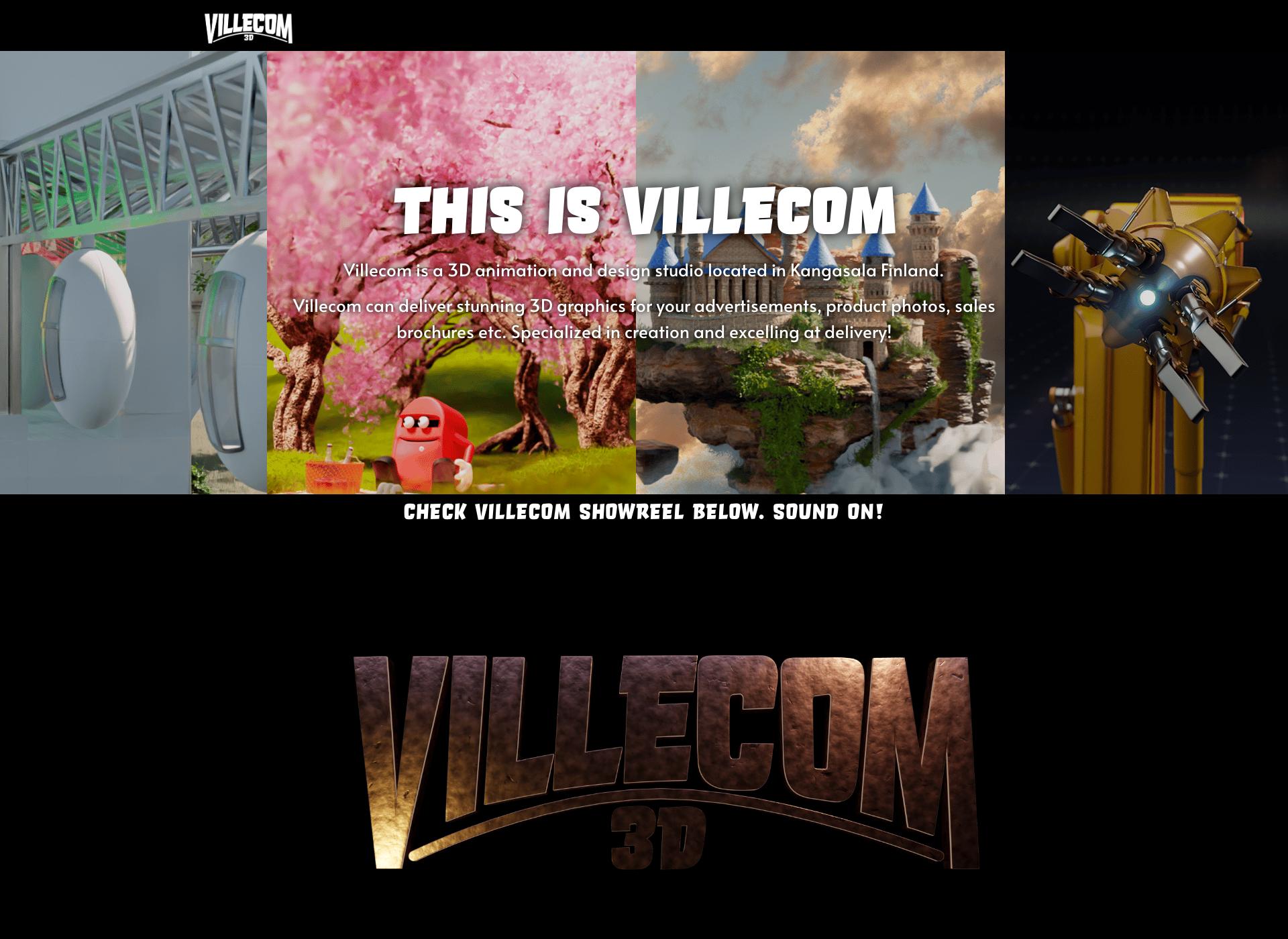 Screenshot for villecom.fi