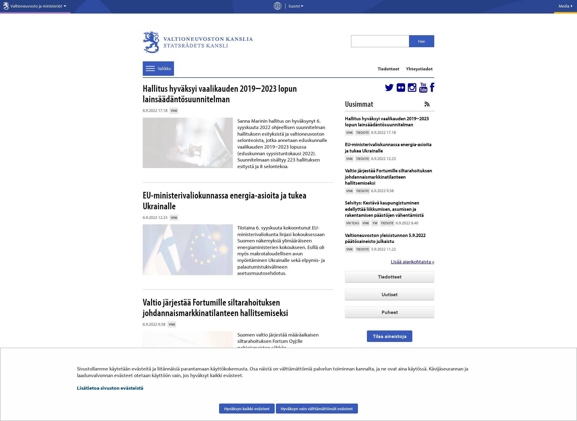 Screenshot for vnk.fi