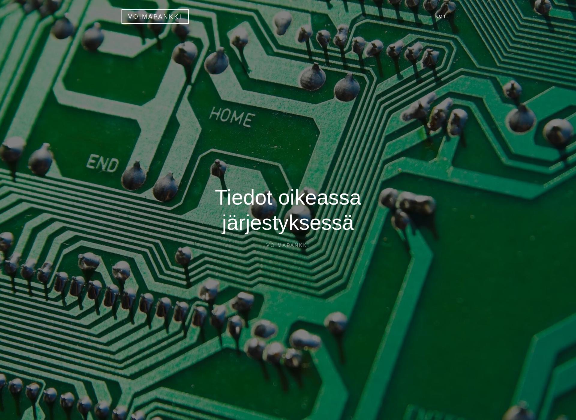 Screenshot for voimapankki.fi