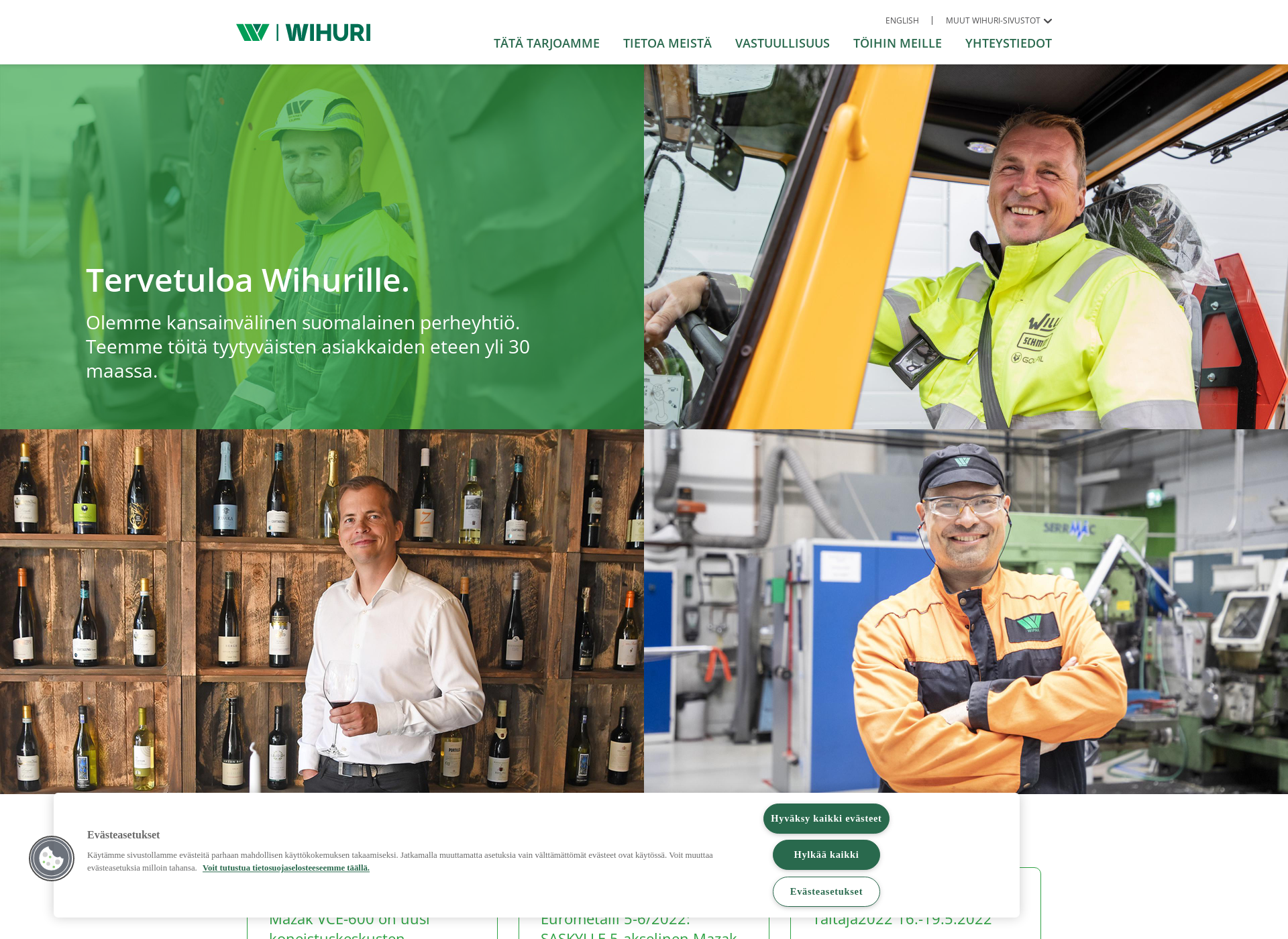 Screenshot for wihuri.fi