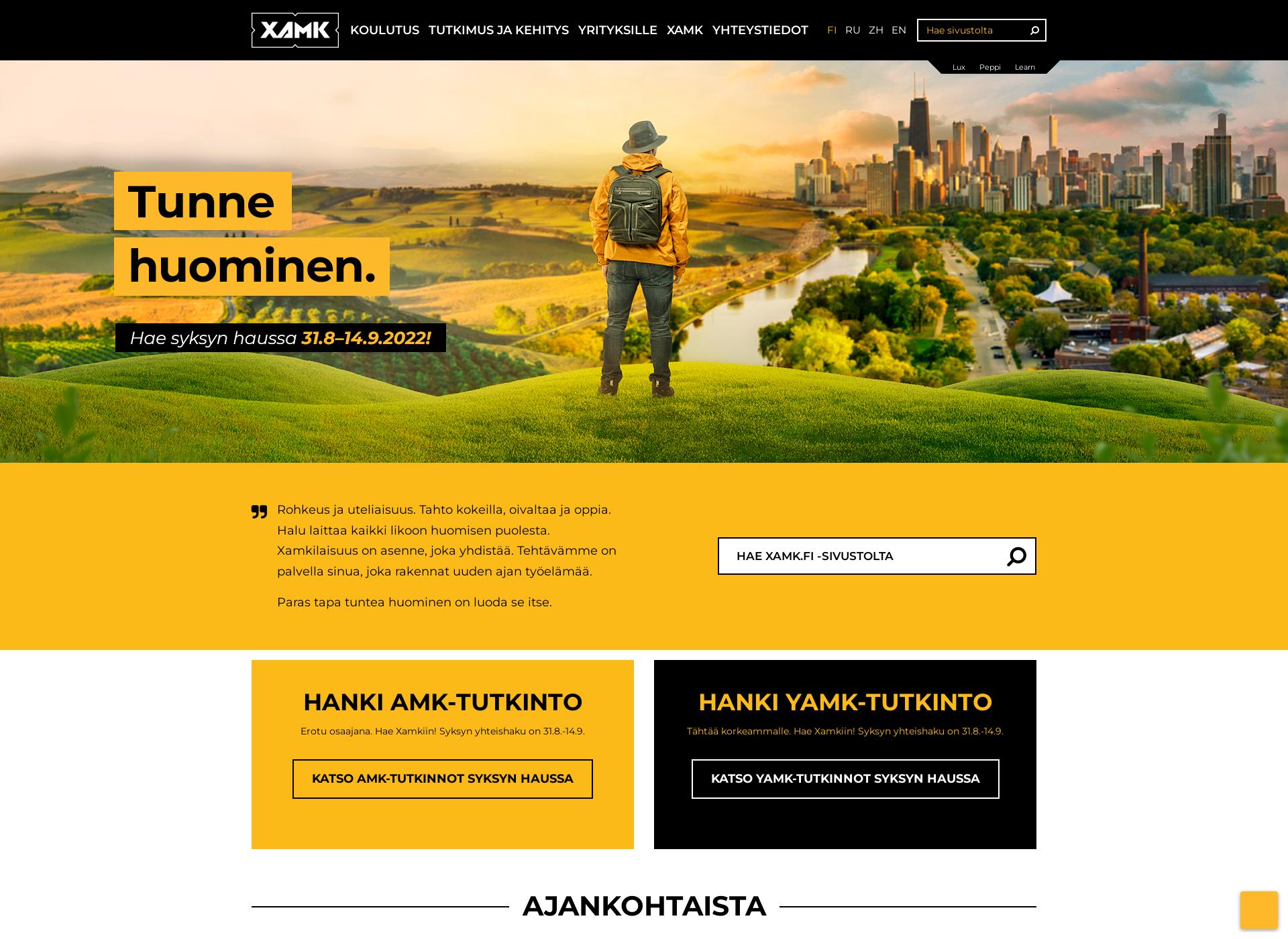 Screenshot for xamk.fi