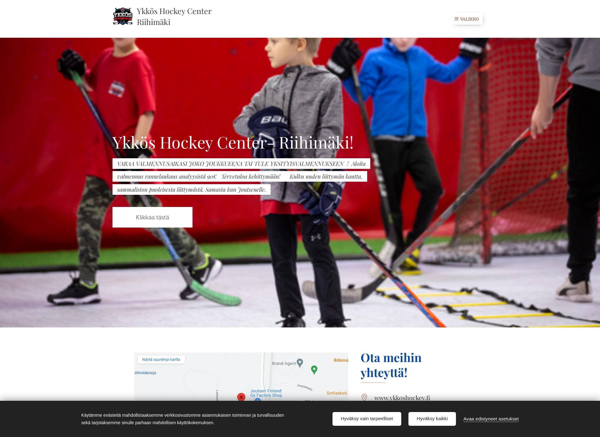 Screenshot for ykkoshockey.fi