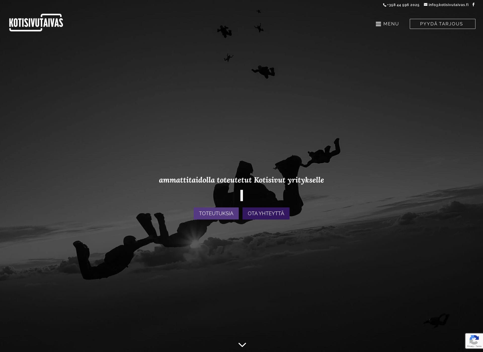 Screenshot for yrittäjäkoulutus.fi